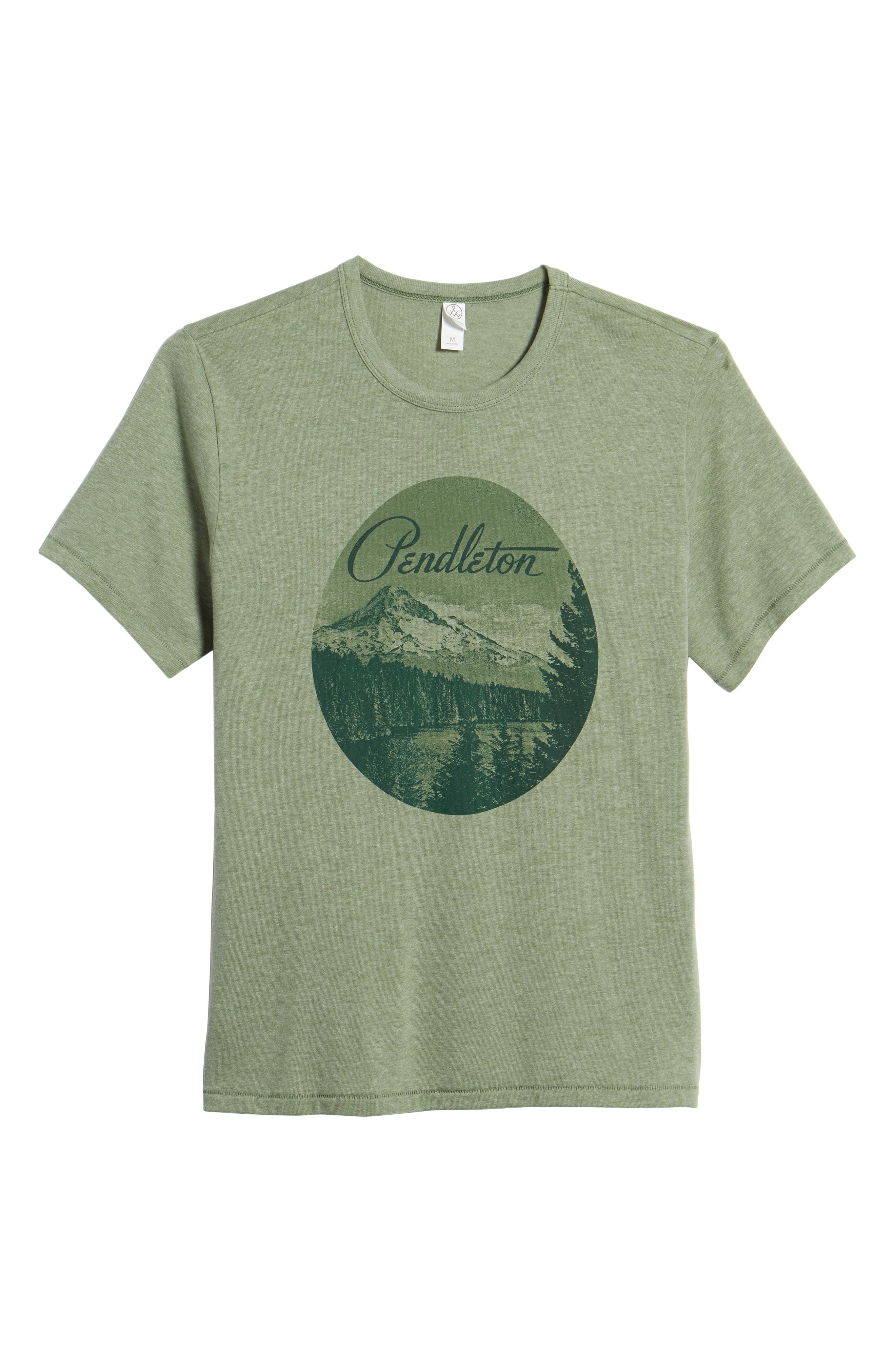 Mt. Hood Crewneck T-Shirt,                             Alternate thumbnail 6, color,                             FOREST GREEN