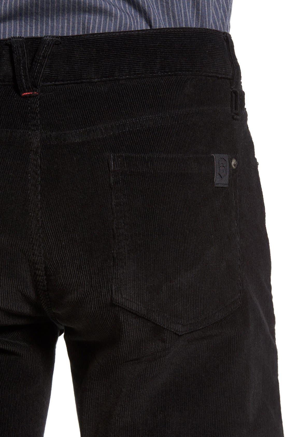 Industrialist Slim Fit Corduroy Pants,                             Alternate thumbnail 4, color,                             001