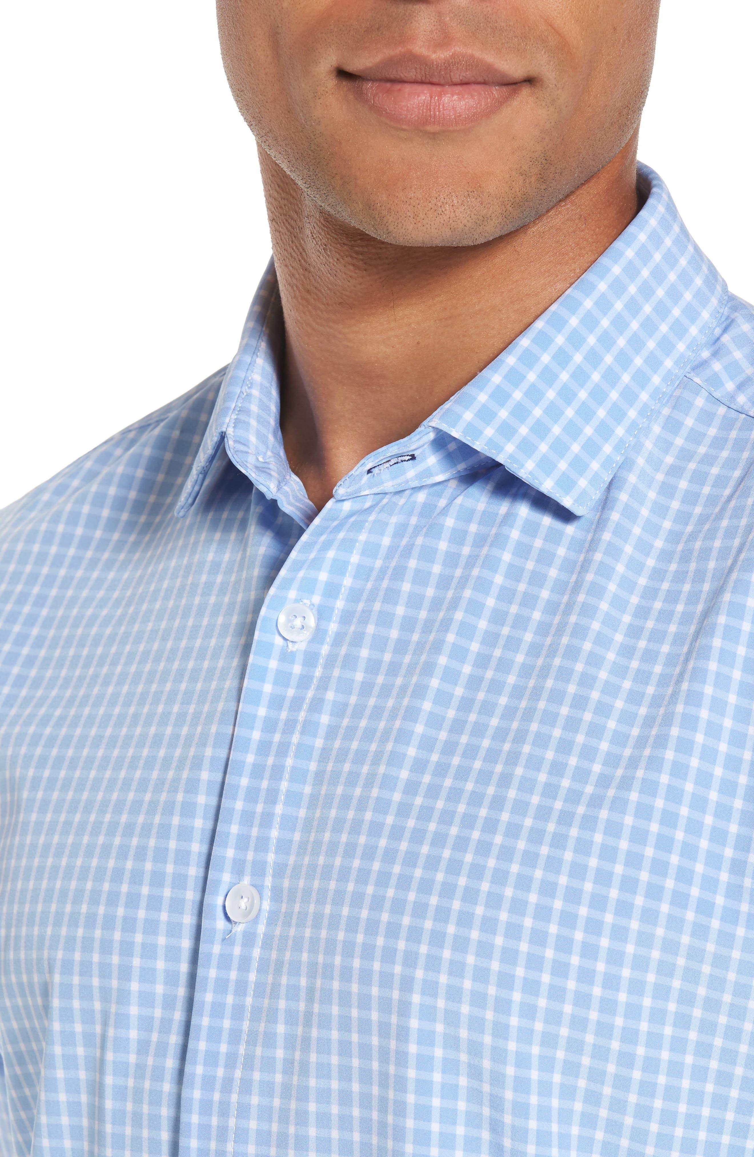 Carter Windowpane Check Sport Shirt,                             Alternate thumbnail 4, color,                             400