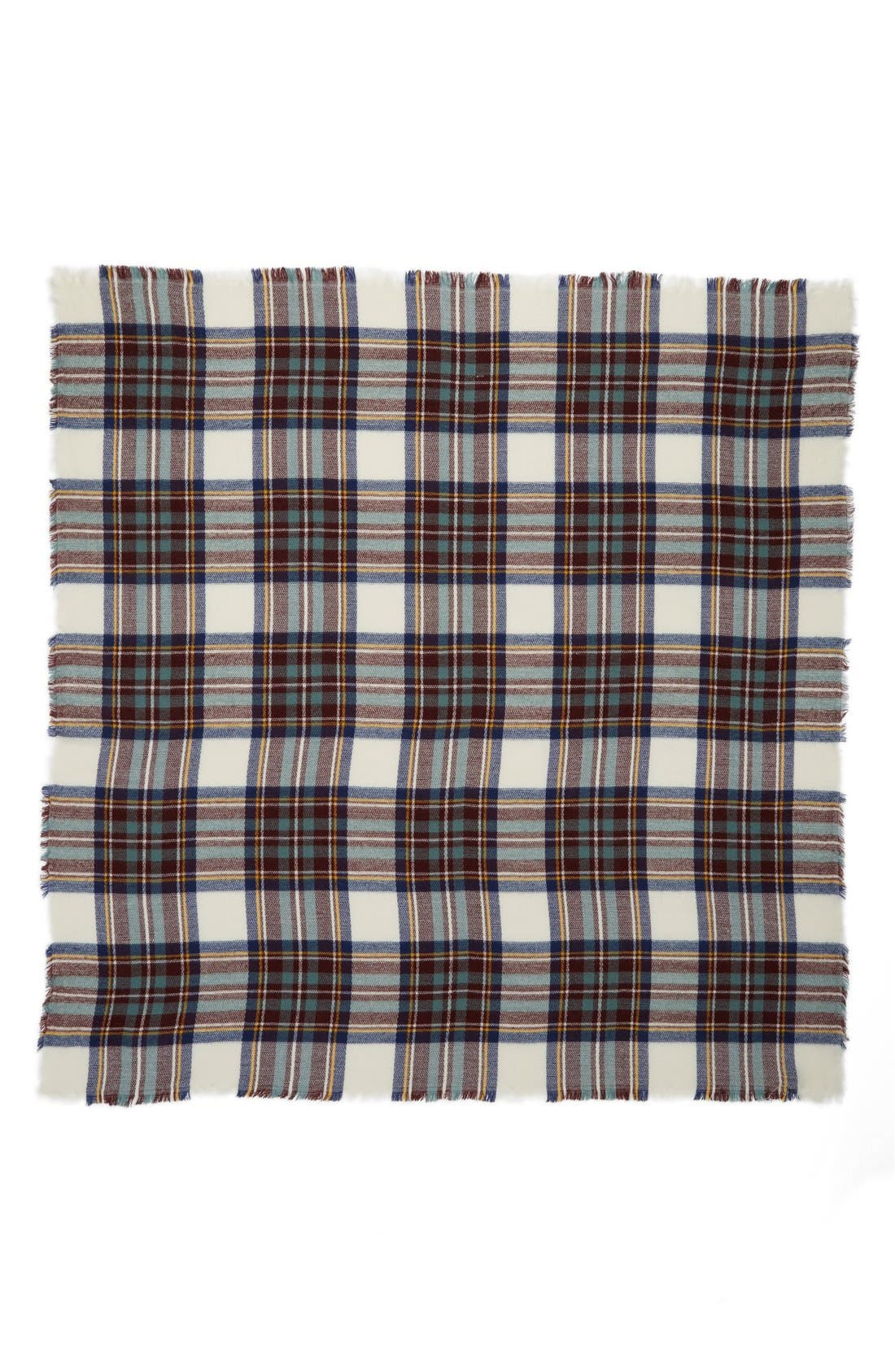 Plaid Blanket Scarf,                             Alternate thumbnail 3, color,                             100