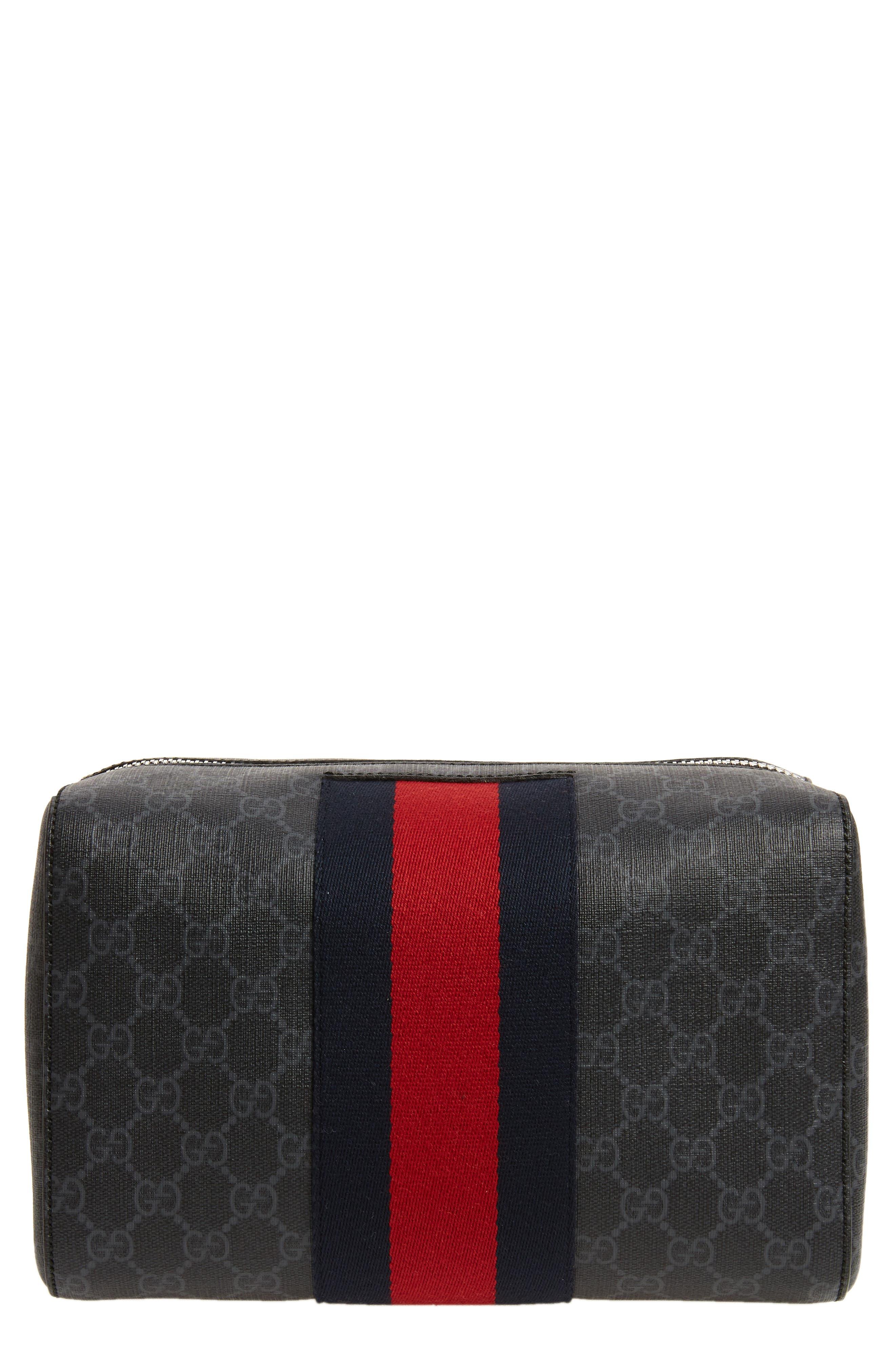 GG Supreme Hand Duffel Bag,                         Main,                         color, 001