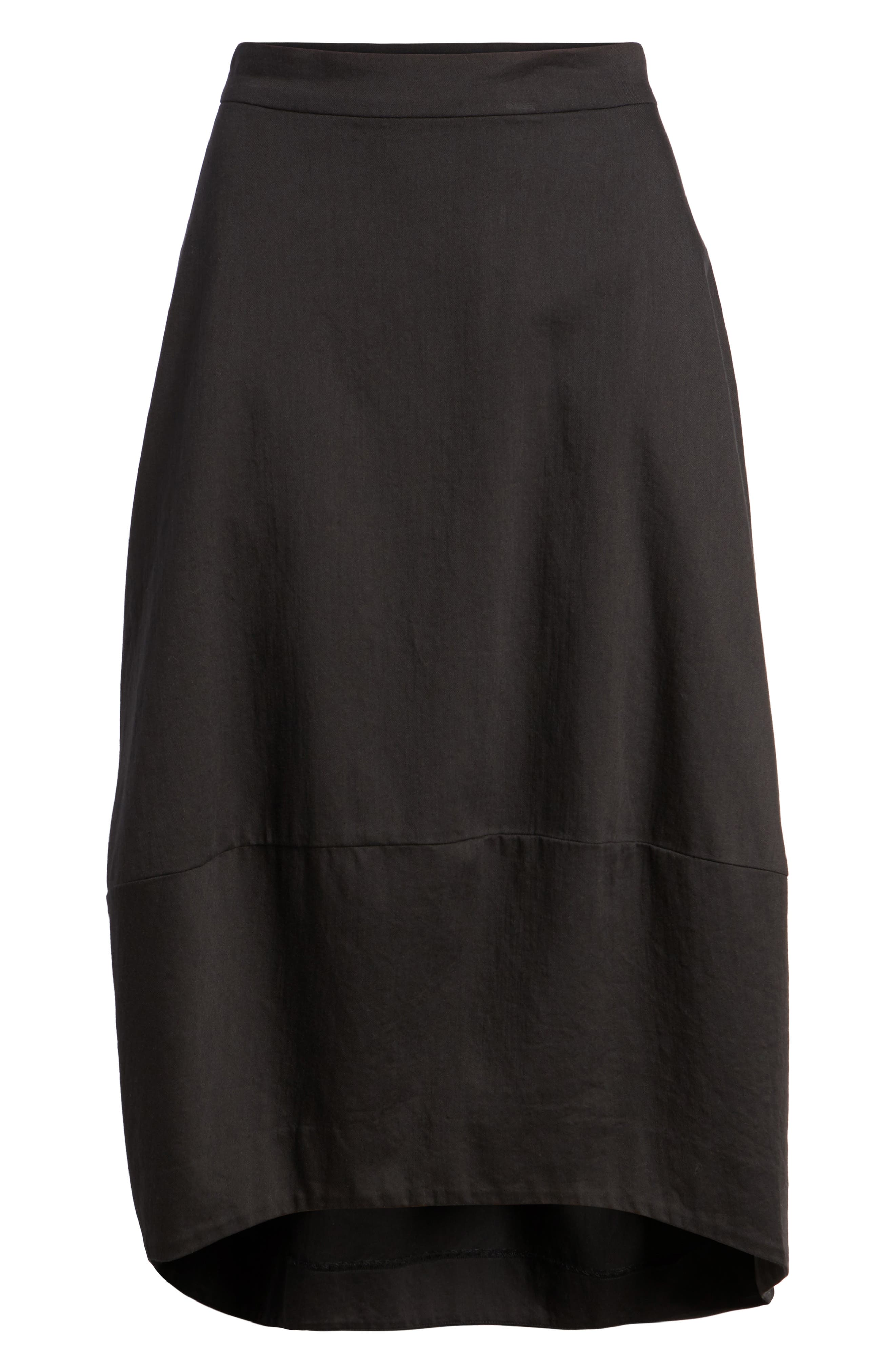 Organic Cotton Lantern Skirt,                             Alternate thumbnail 6, color,                             001