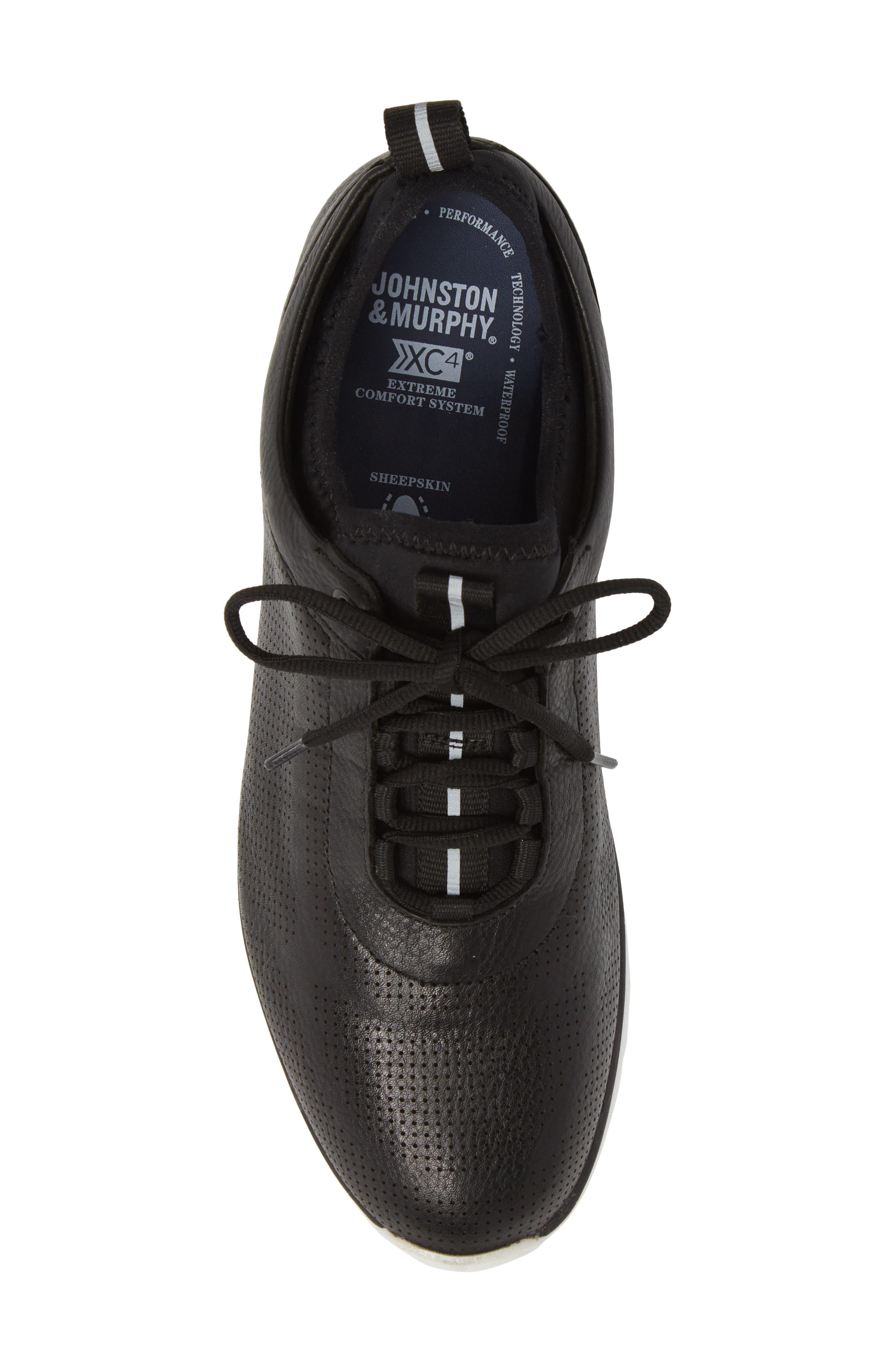 Prentiss XC4<sup>®</sup> Waterproof Sneaker,                             Alternate thumbnail 5, color,                             BLACK LEATHER
