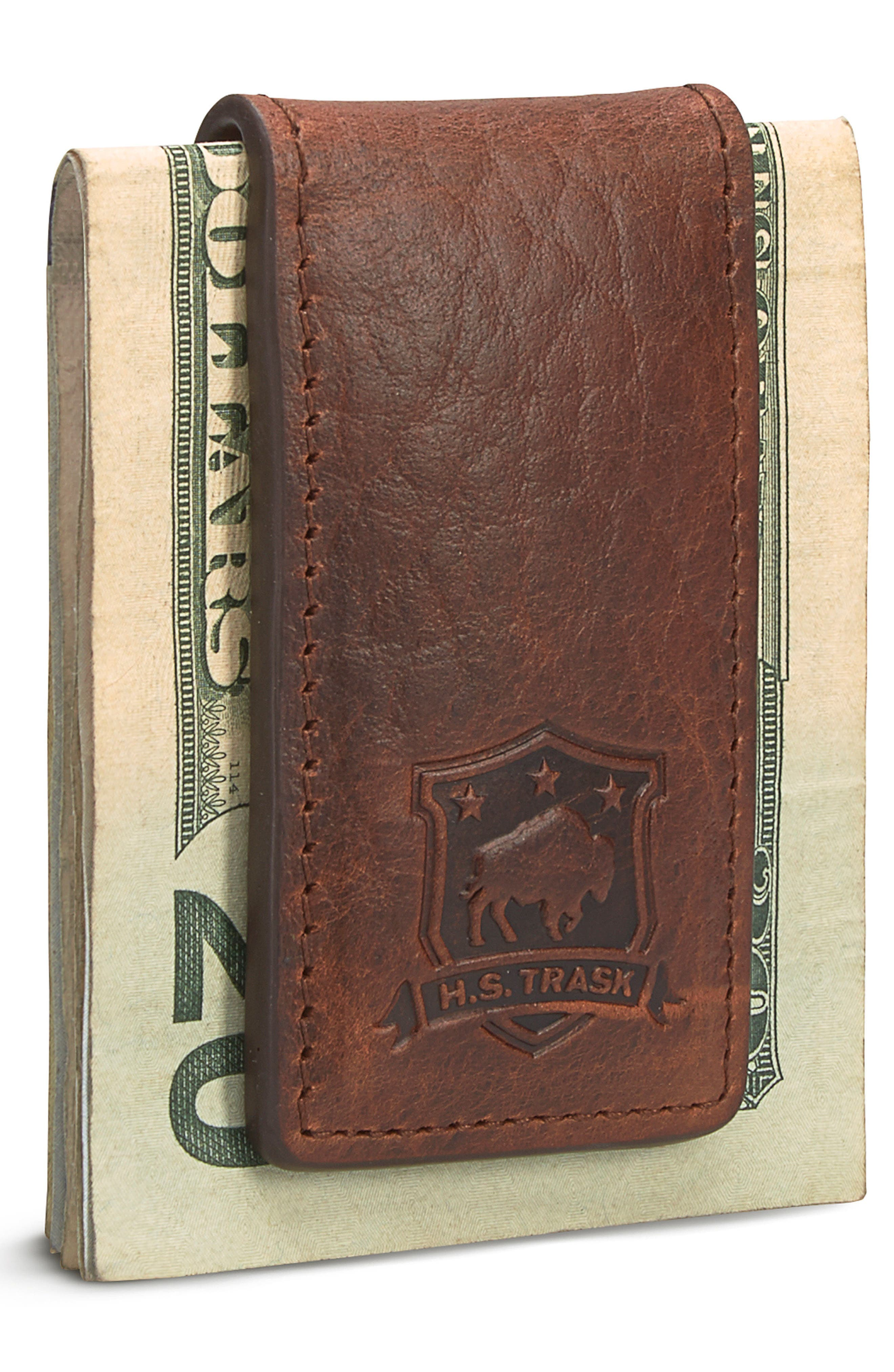 Leather Money Clip,                             Alternate thumbnail 3, color,                             211