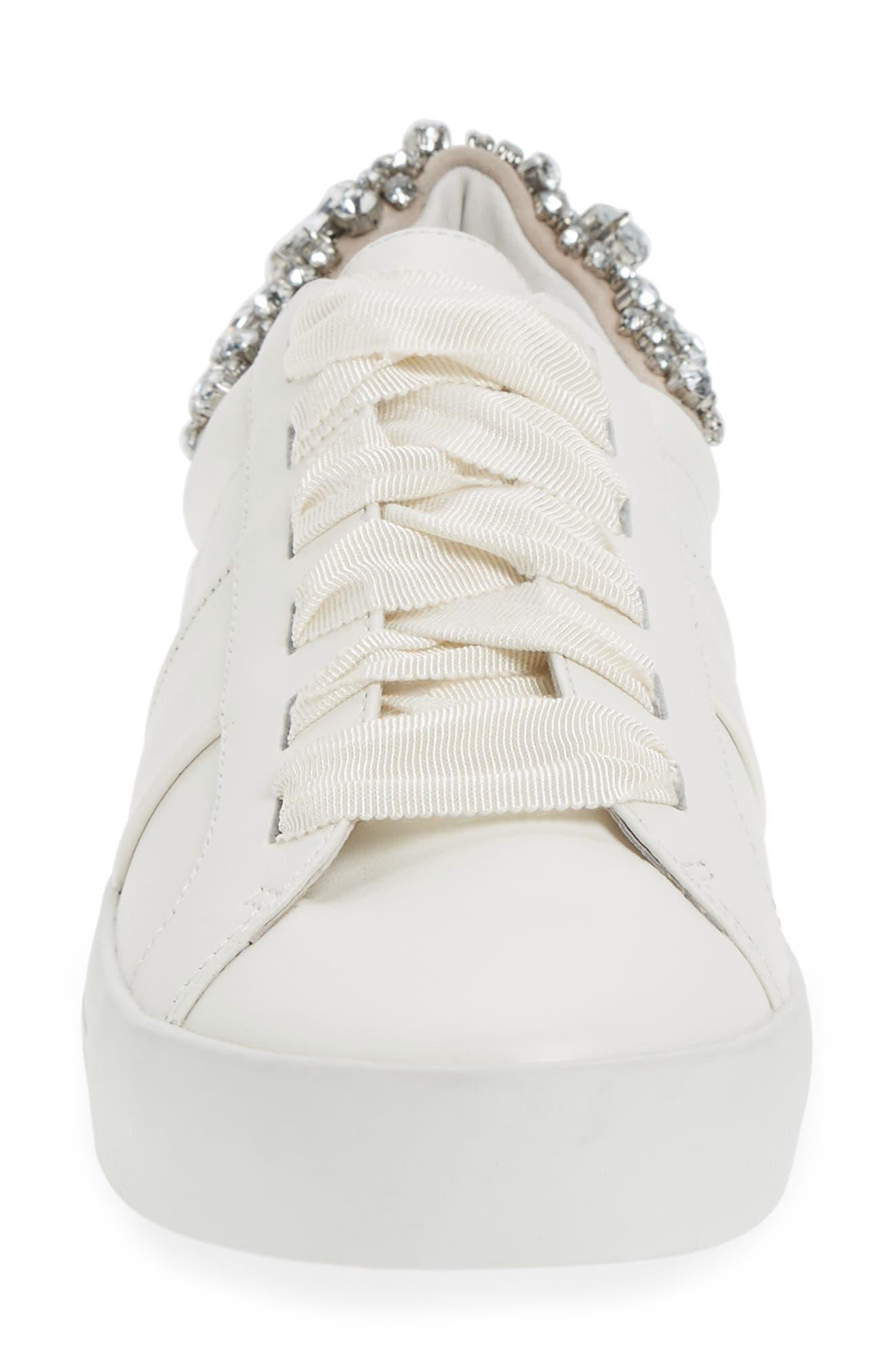 Darena Crystal Embellished Sneaker,                             Alternate thumbnail 8, color,