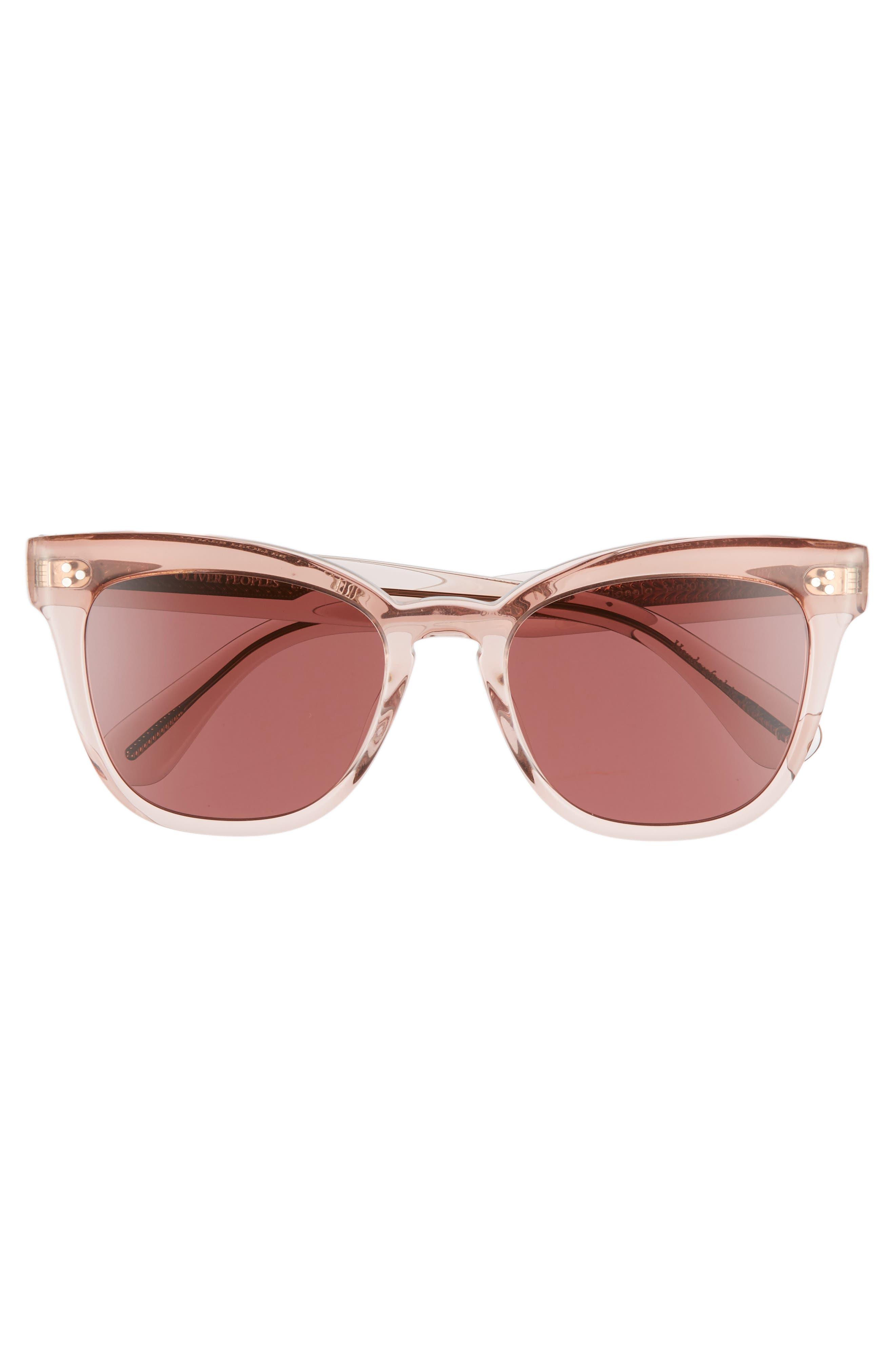OLIVER PEOPLES,                             Marianela 54mm Cat Eye Sunglasses,                             Alternate thumbnail 3, color,                             WASHED ROSE