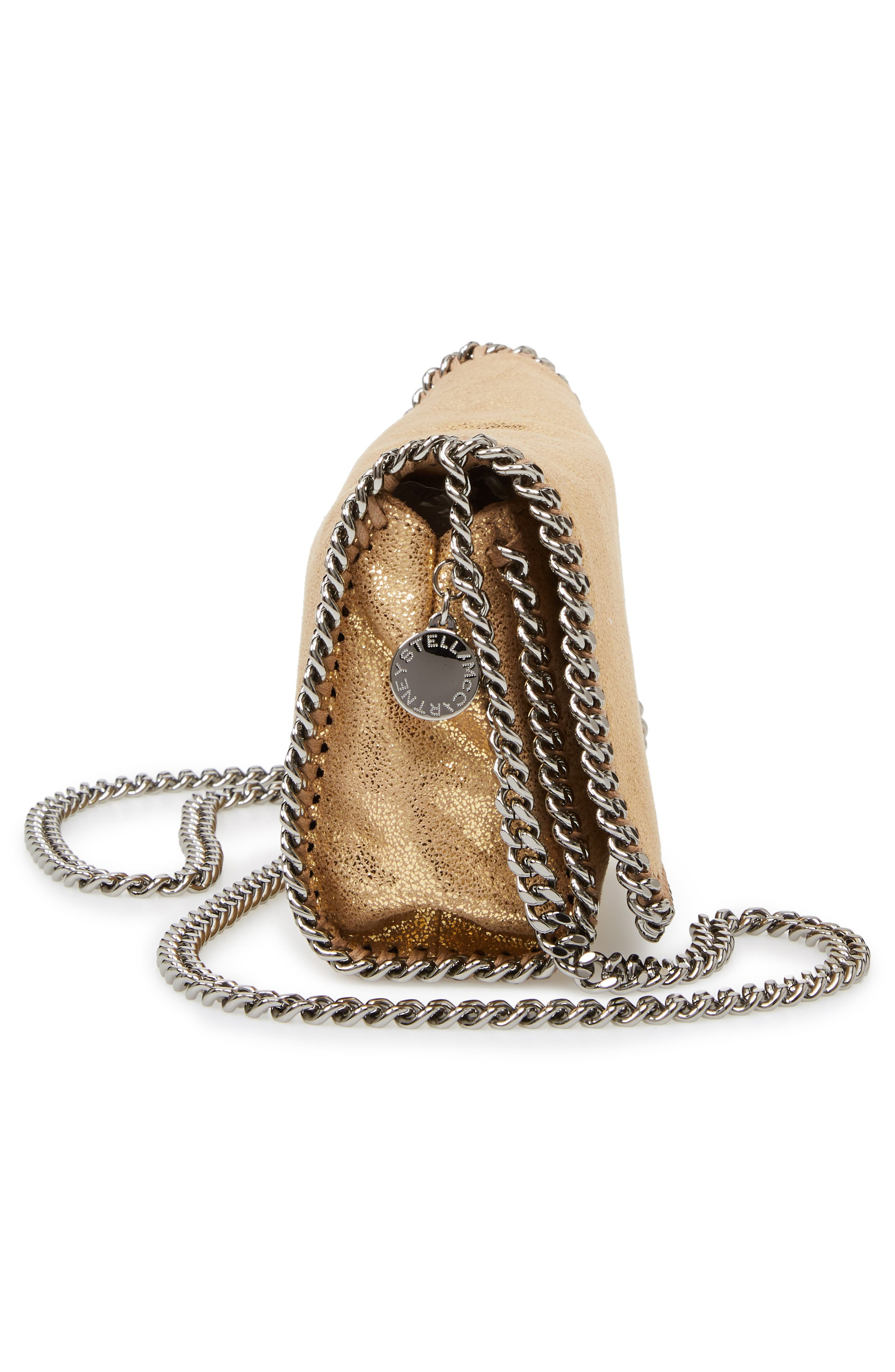 'Falabella' Crossbody Bag,                             Alternate thumbnail 5, color,                             GOLD