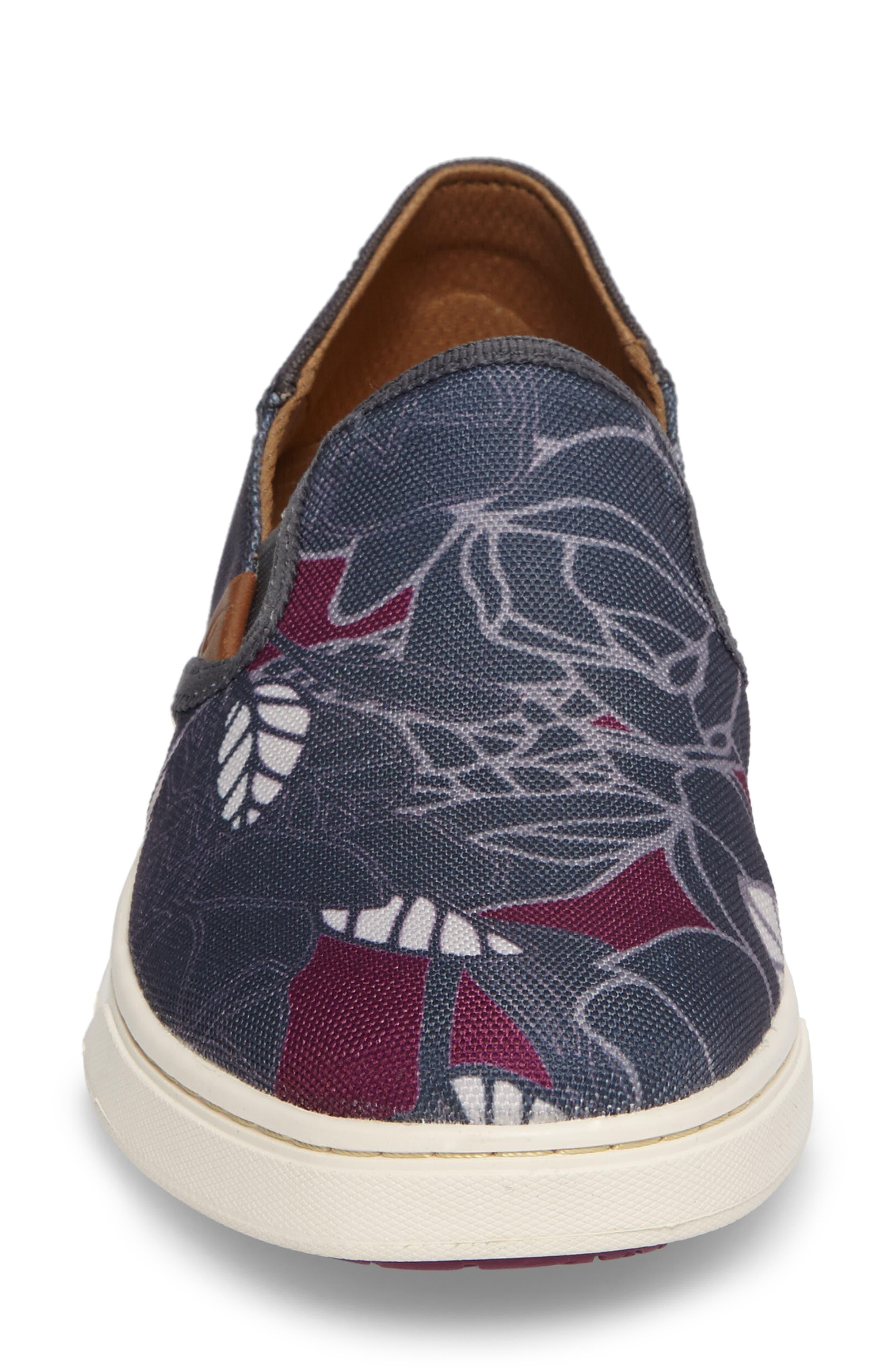 Pehuea Print Slip-On Sneaker,                             Alternate thumbnail 4, color,                             027