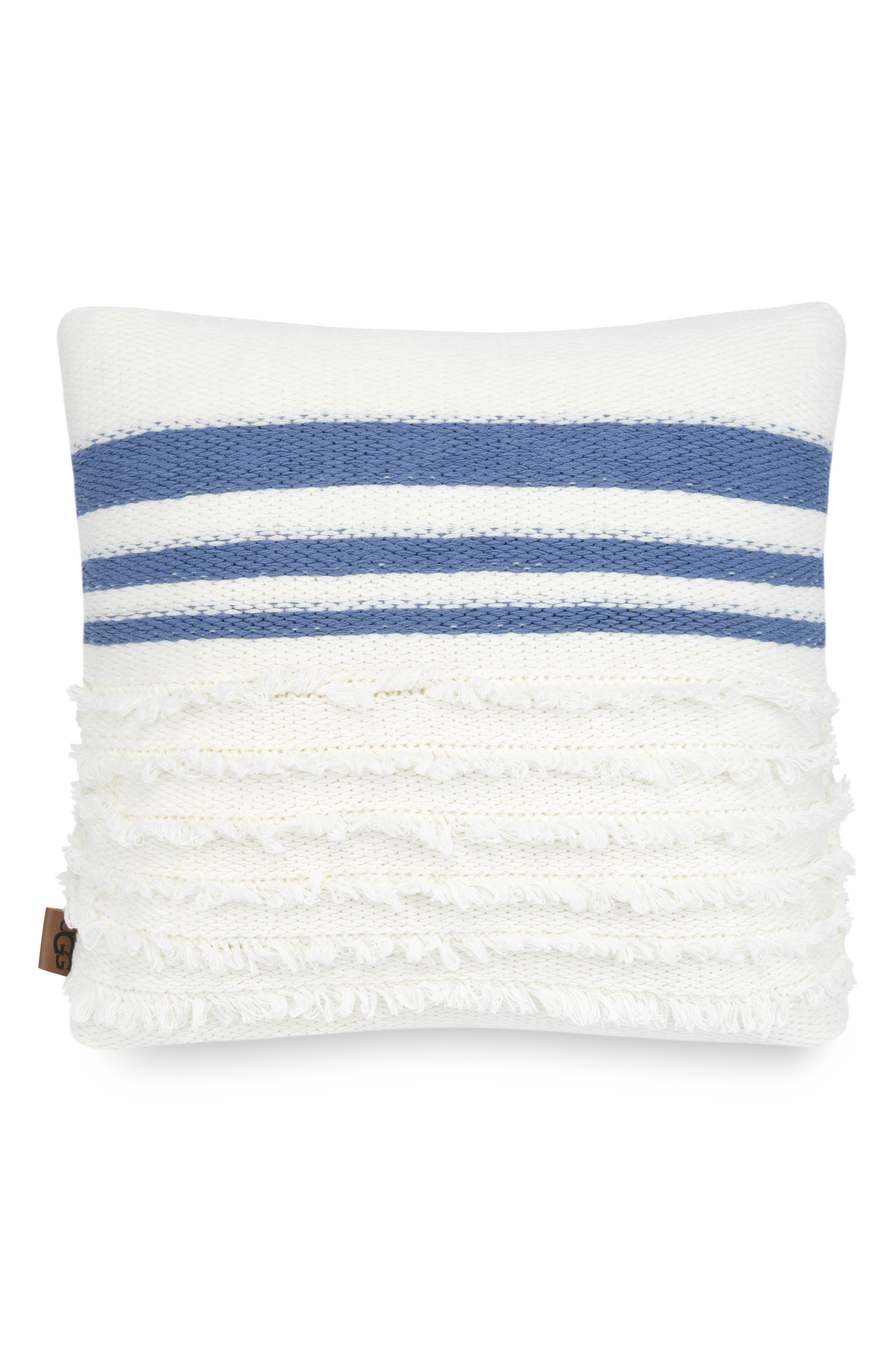 UGG<SUP>®</SUP>,                             Solana Stripe Accent Pillow,                             Main thumbnail 1, color,                             SNOW MULTI STRIPE