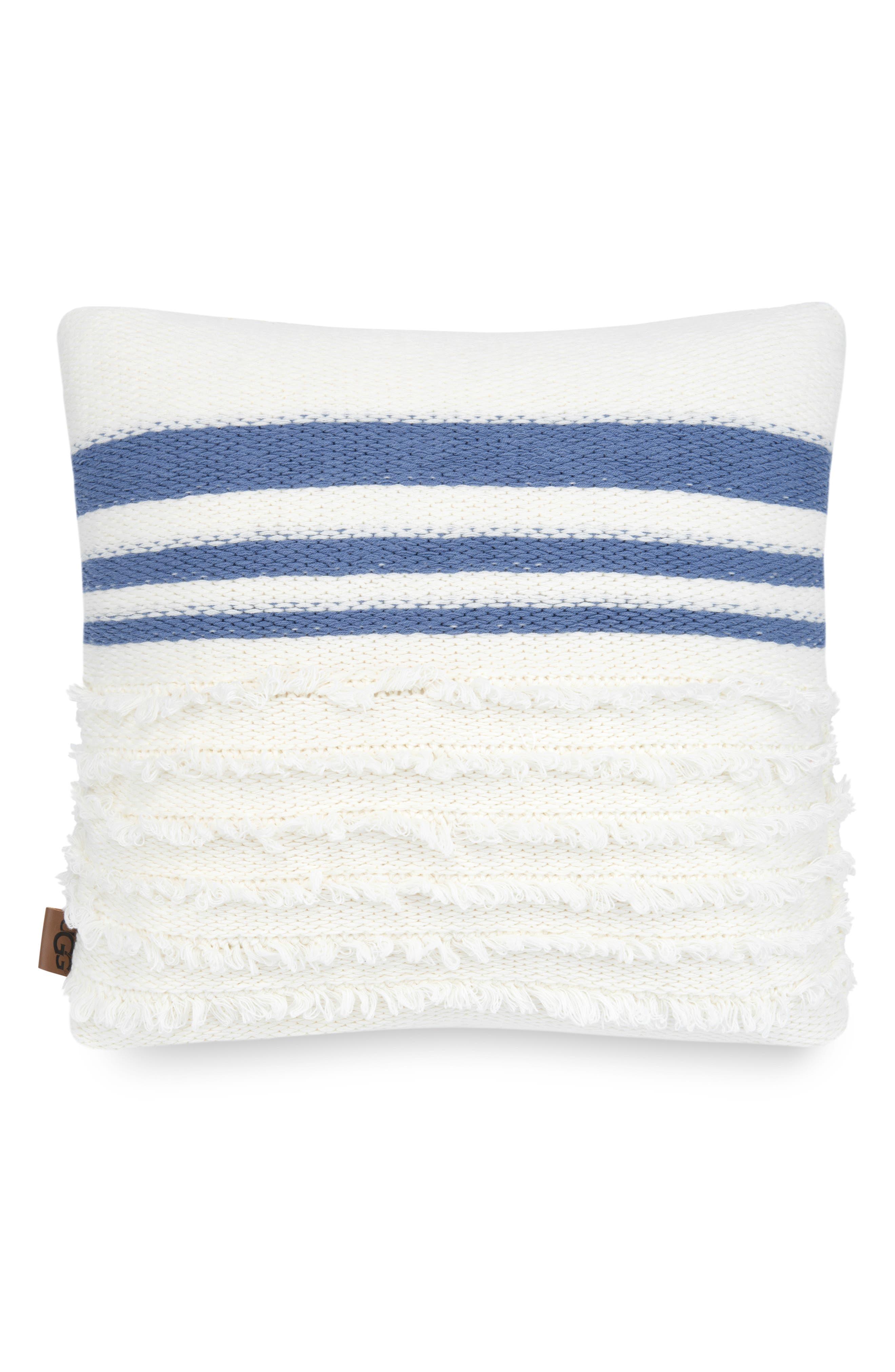 UGG<SUP>®</SUP> Solana Stripe Accent Pillow, Main, color, SNOW MULTI STRIPE