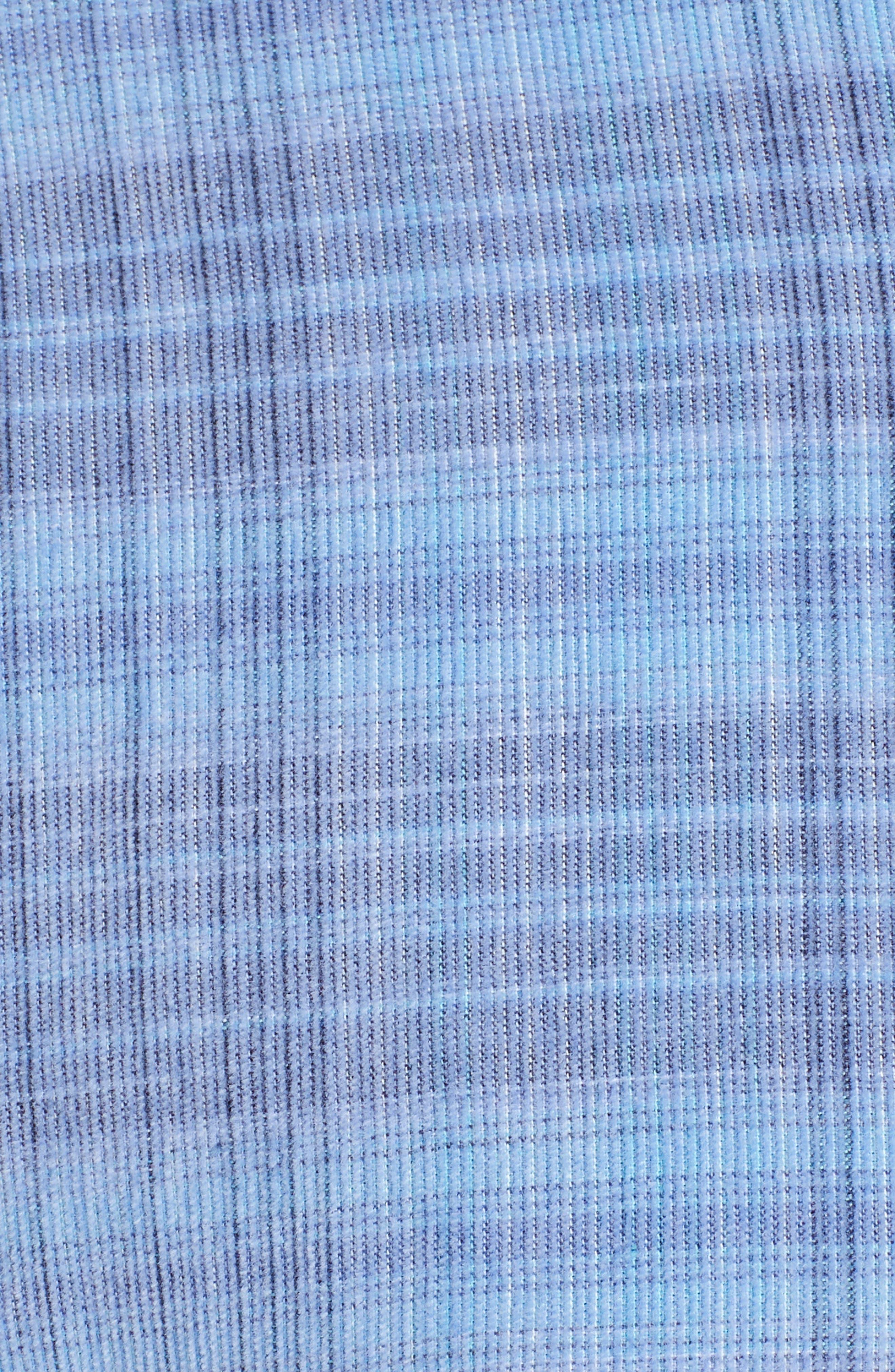Cruzy Plaid Corduroy Sport Shirt,                             Alternate thumbnail 5, color,                             RIVIERA AZURE