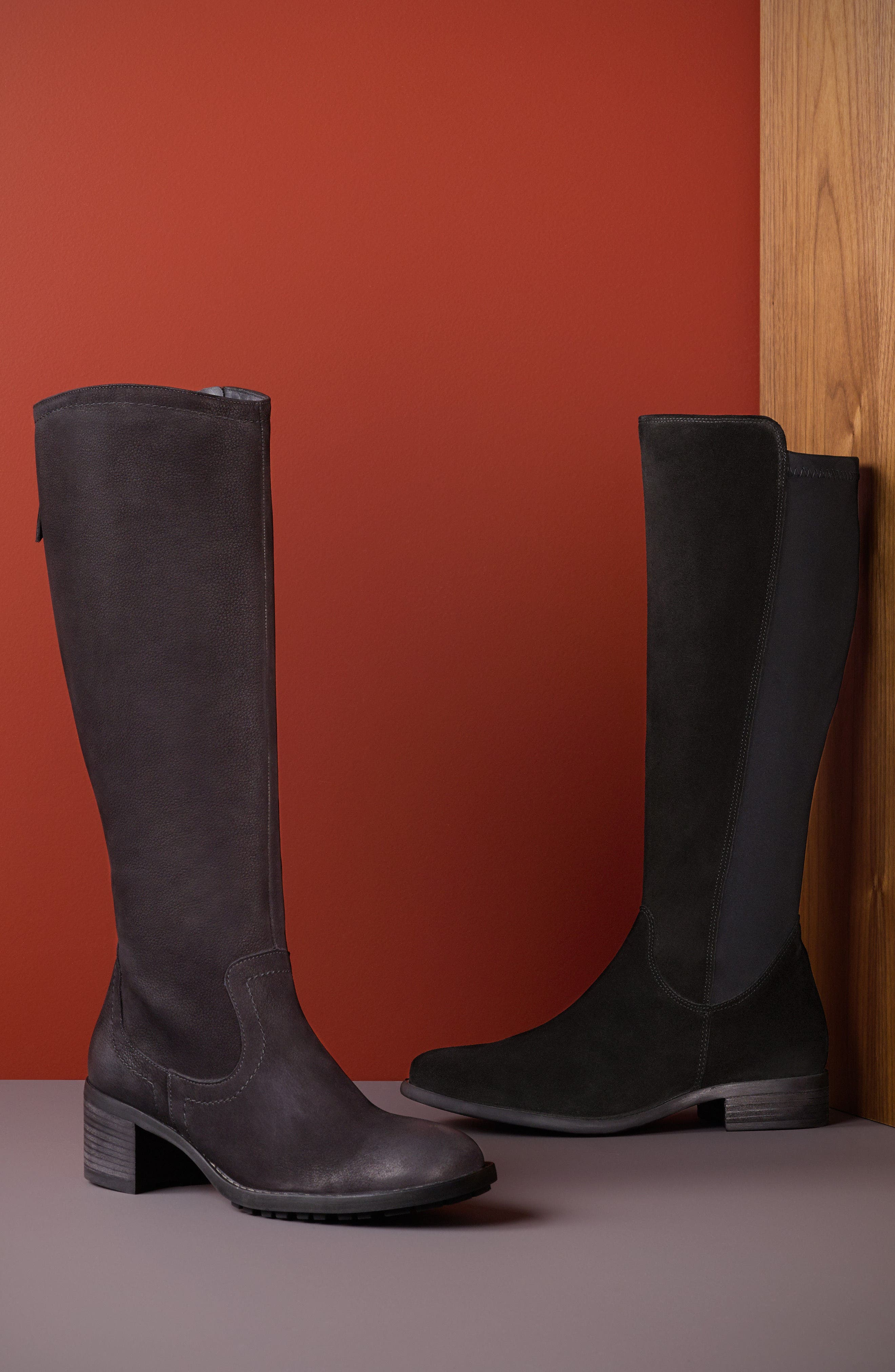 Nola Tall Water Resistant Boot,                             Alternate thumbnail 7, color,                             009