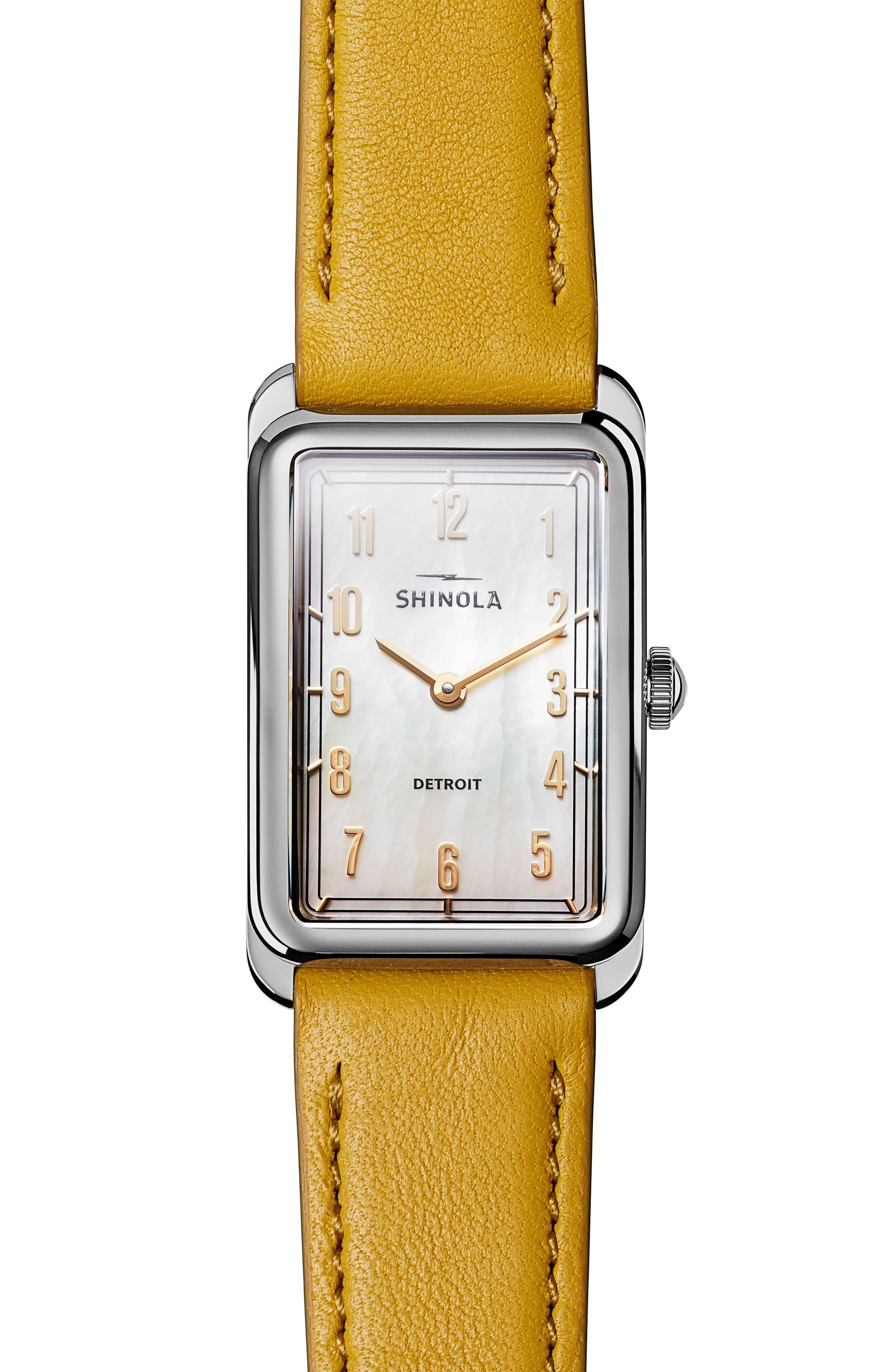 The Muldowney Rectangular Leather Strap Watch, 24mm x 32mm,                             Main thumbnail 5, color,