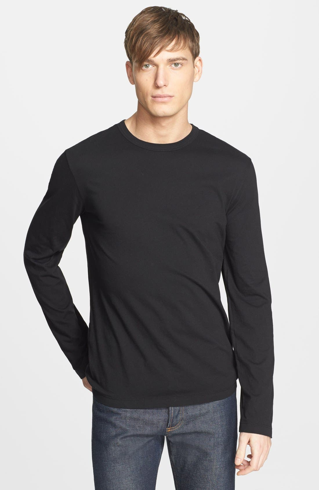 Long Sleeve Crewneck T-Shirt,                         Main,                         color,