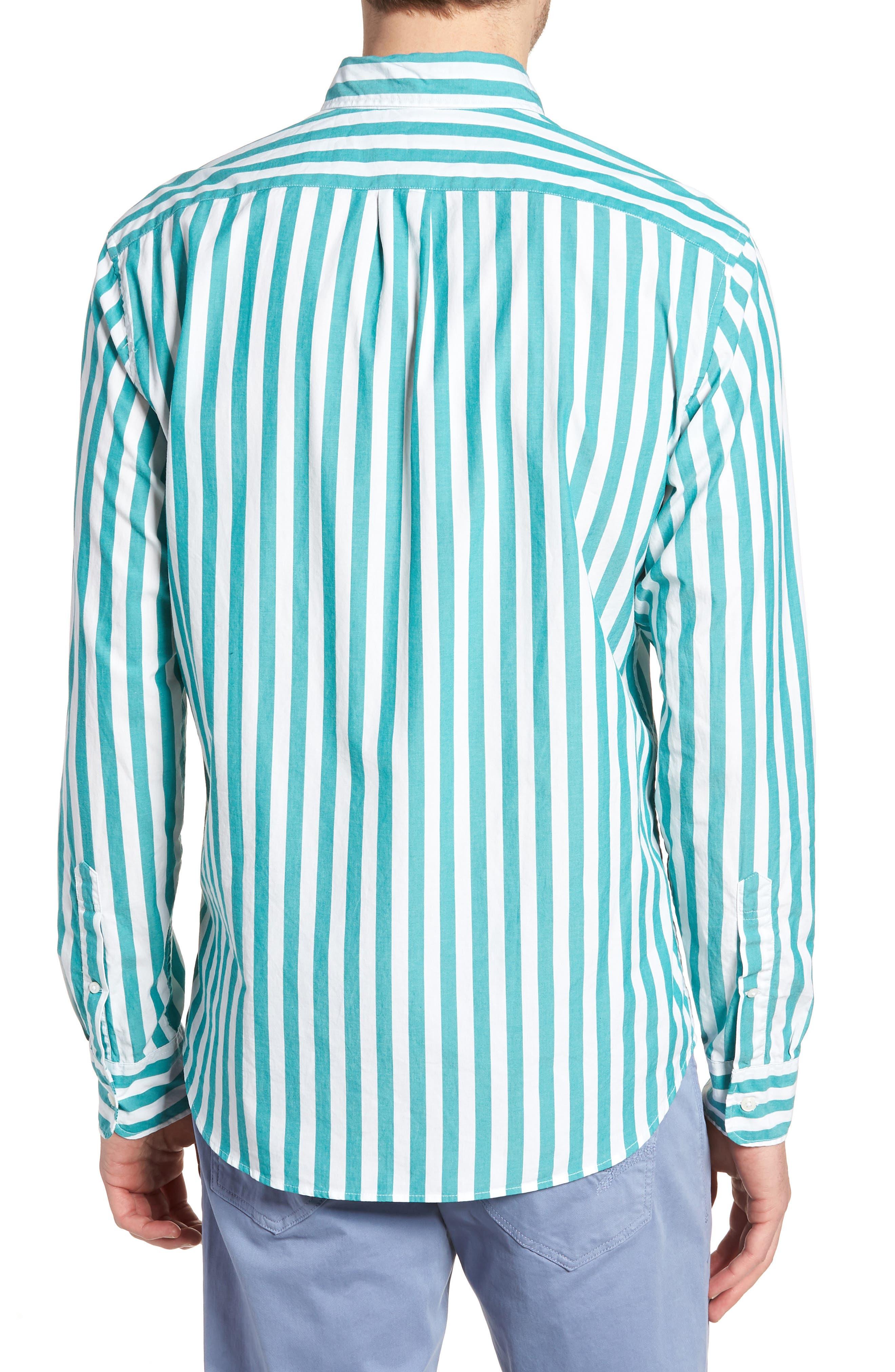 Slim Fit Stretch Secret Wash Stripe Sport Shirt,                             Alternate thumbnail 2, color,                             400