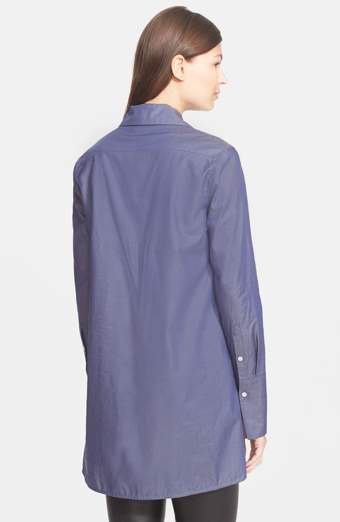 Herringbone Tuxedo Inset Shirt,                             Alternate thumbnail 3, color,                             466