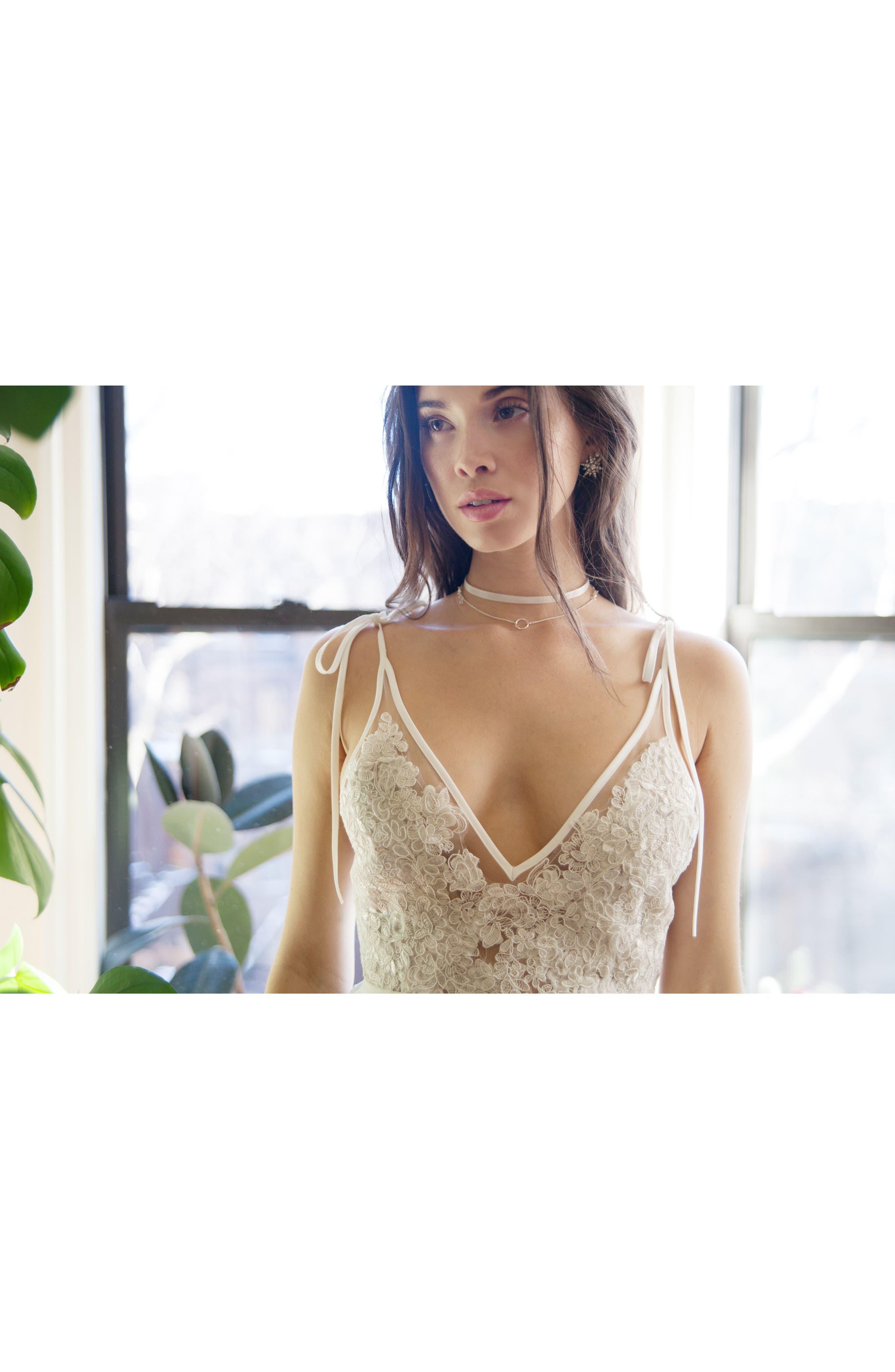Charlie Tie Shoulder Lace Gown,                             Alternate thumbnail 12, color,