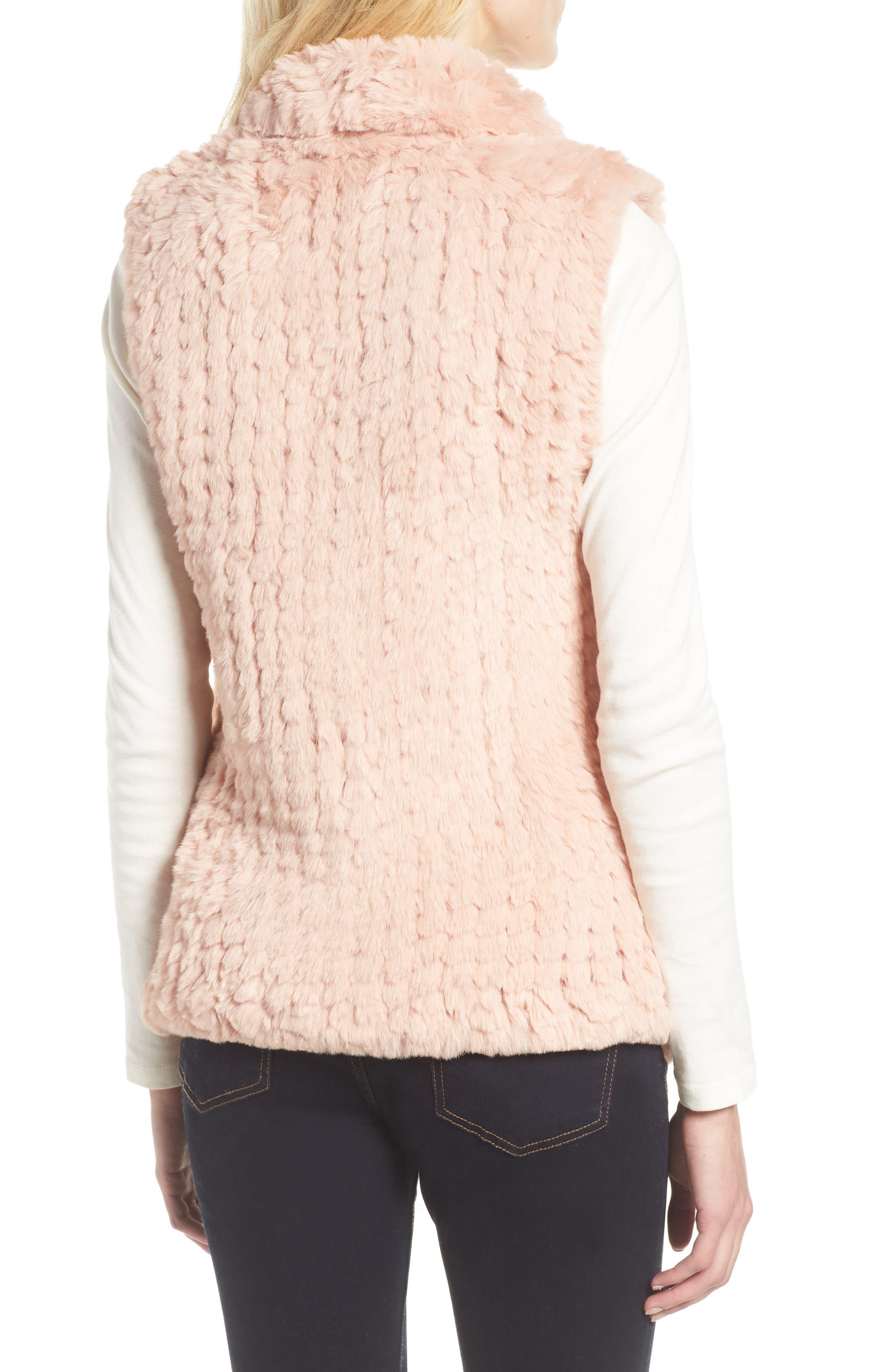 Faux Fur Vest,                             Alternate thumbnail 2, color,                             PINK