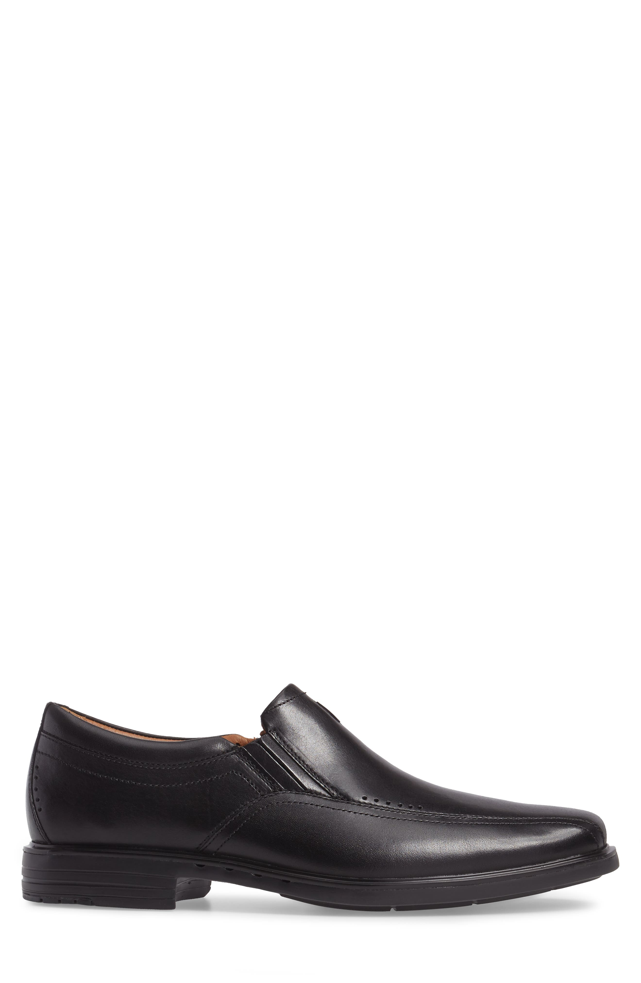 Un.Sheridan Go Loafer,                             Alternate thumbnail 3, color,                             BLACK LEATHER