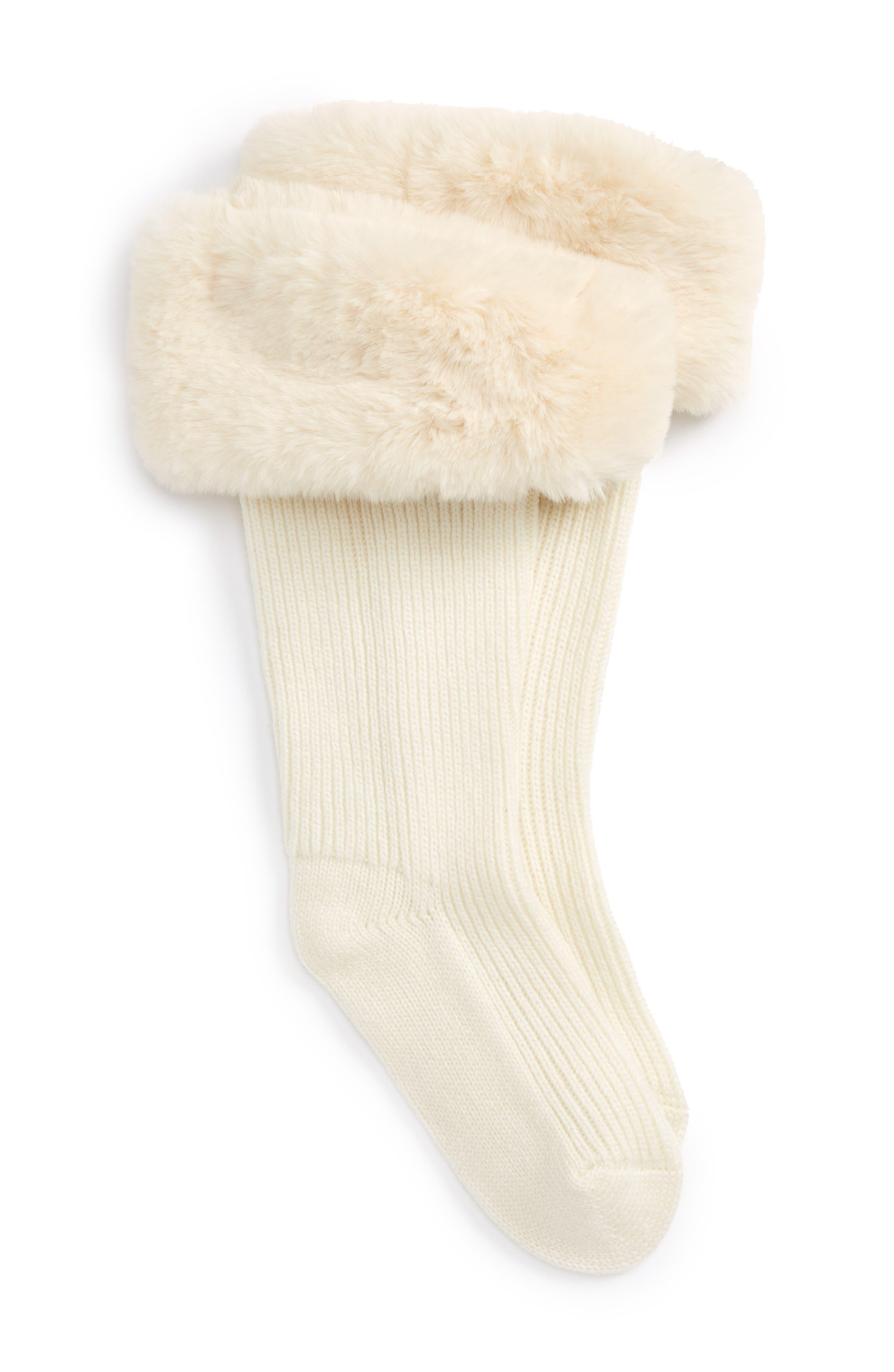 UGGpure<sup>™</sup> Tall Rain Boot Sock,                             Main thumbnail 1, color,                             CREAM WOOL