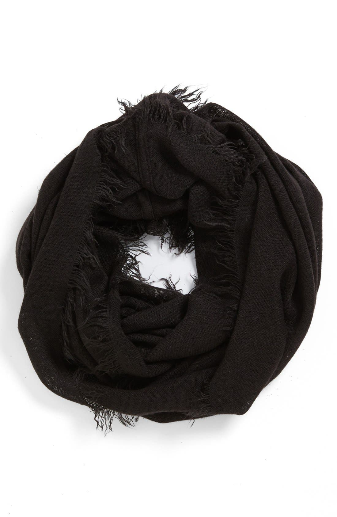Fringe Infinity Scarf,                         Main,                         color, 001