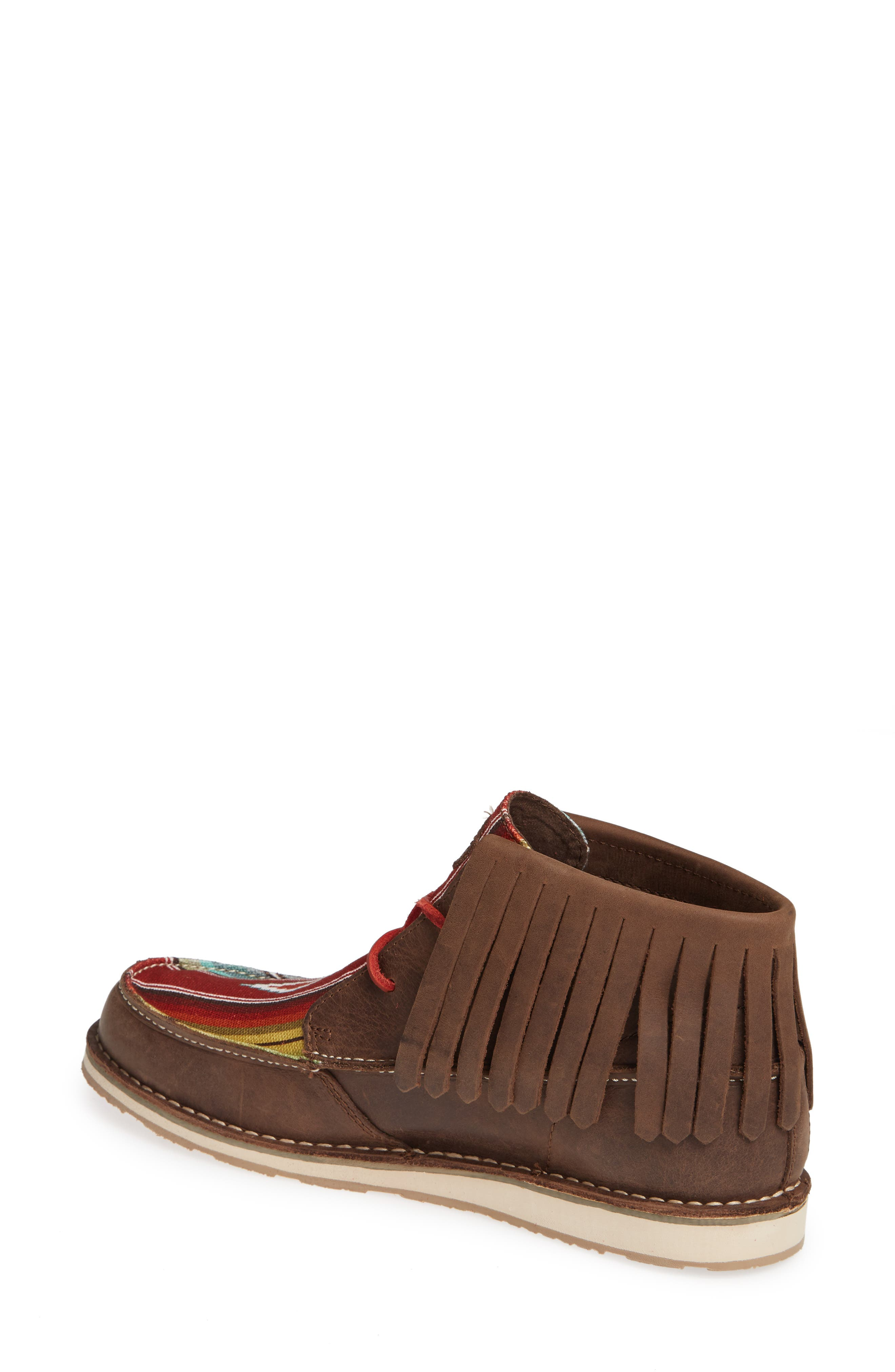 Cruiser Fringe Chukka Boot,                             Alternate thumbnail 2, color,                             PALM BROWN SADDLE LEATHER
