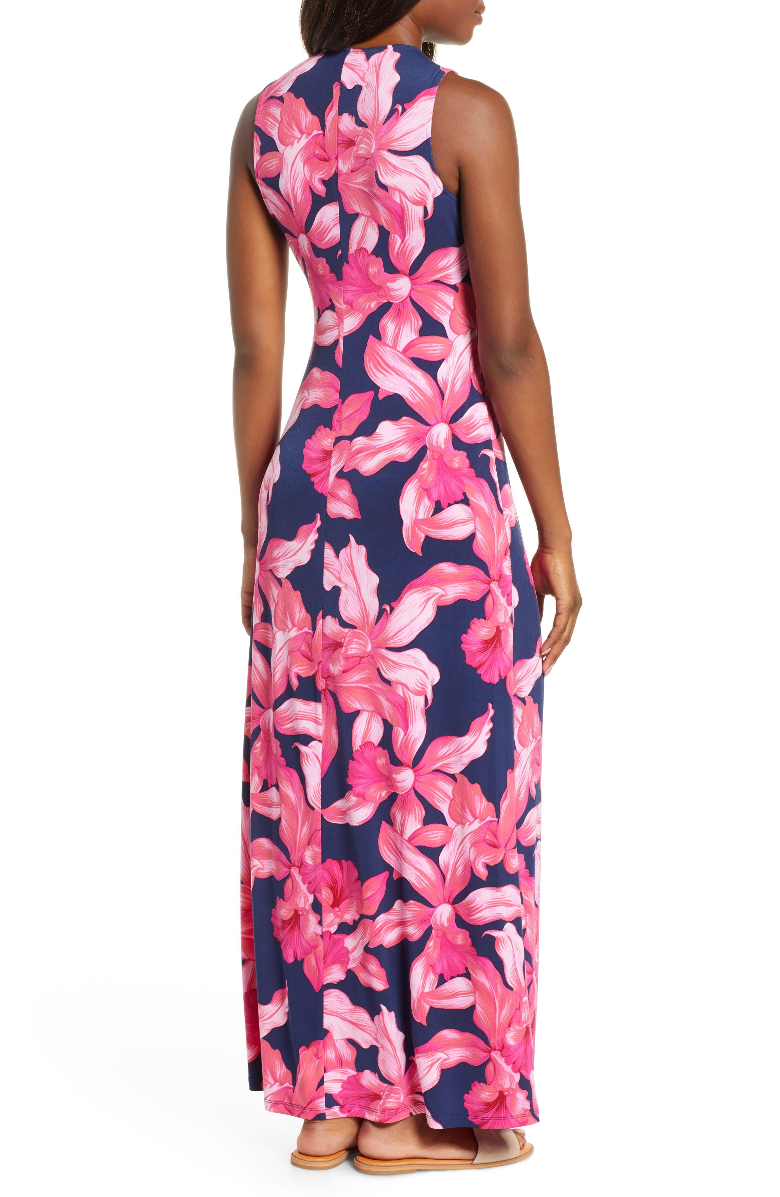 Orchid Rua Maxi Dress,                             Alternate thumbnail 2, color,                             ISLAND NAVY