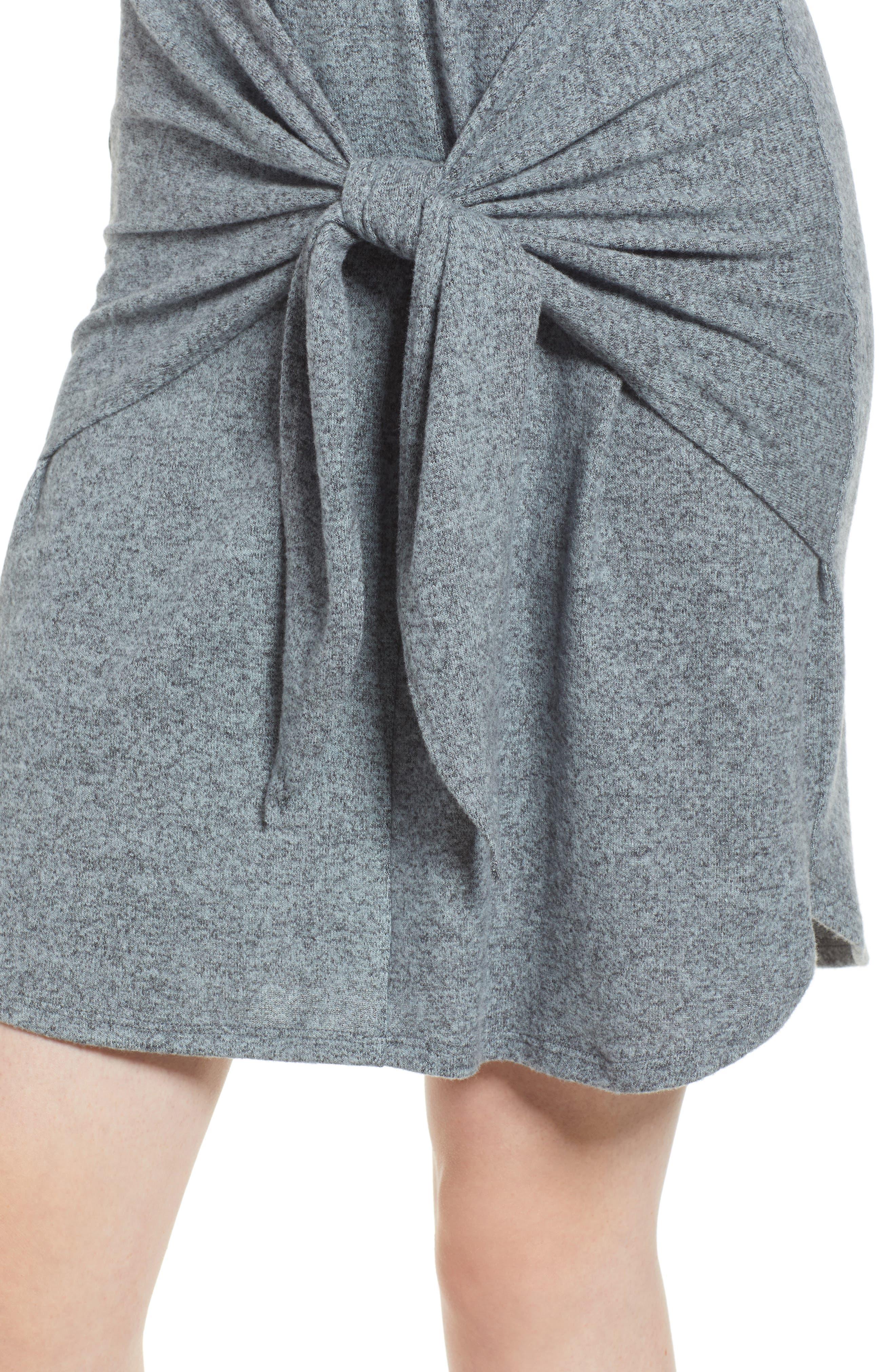 Caslon Off-Duty Tie Front Knit Dress,                             Alternate thumbnail 12, color,