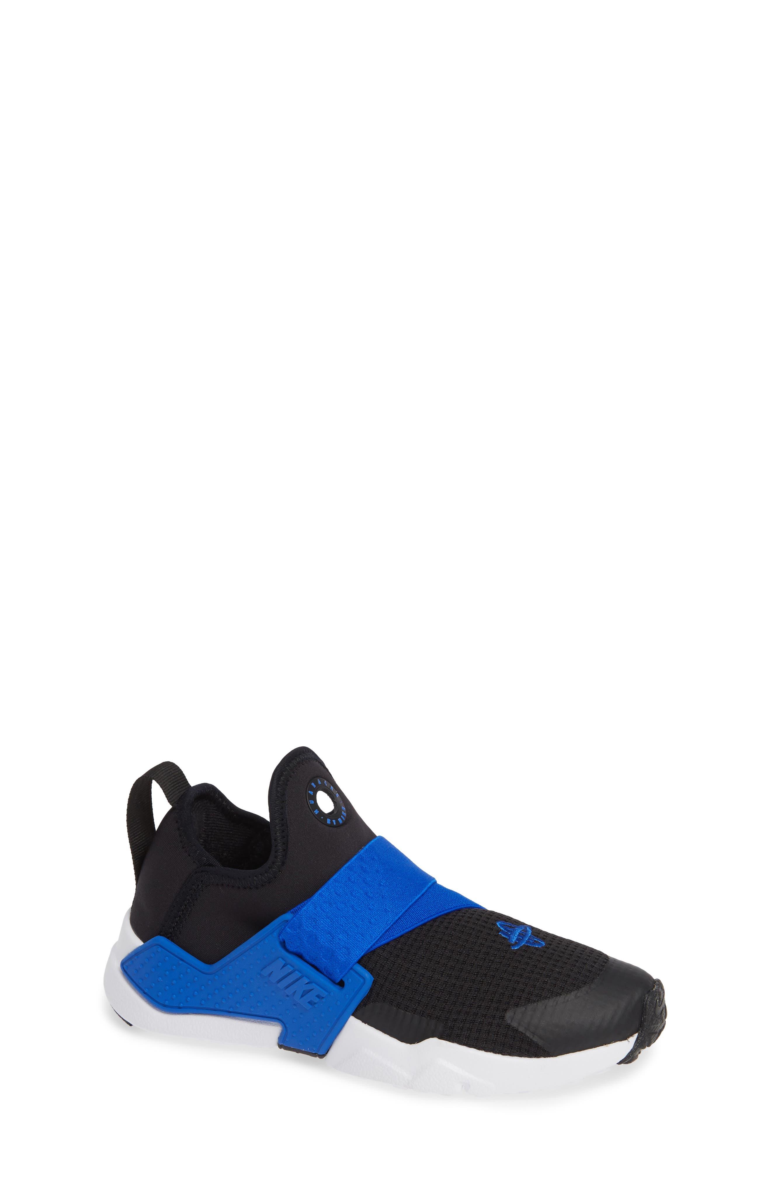 Huarache Extreme Sneaker,                             Main thumbnail 1, color,                             BLACK/ BLUE-WHITE