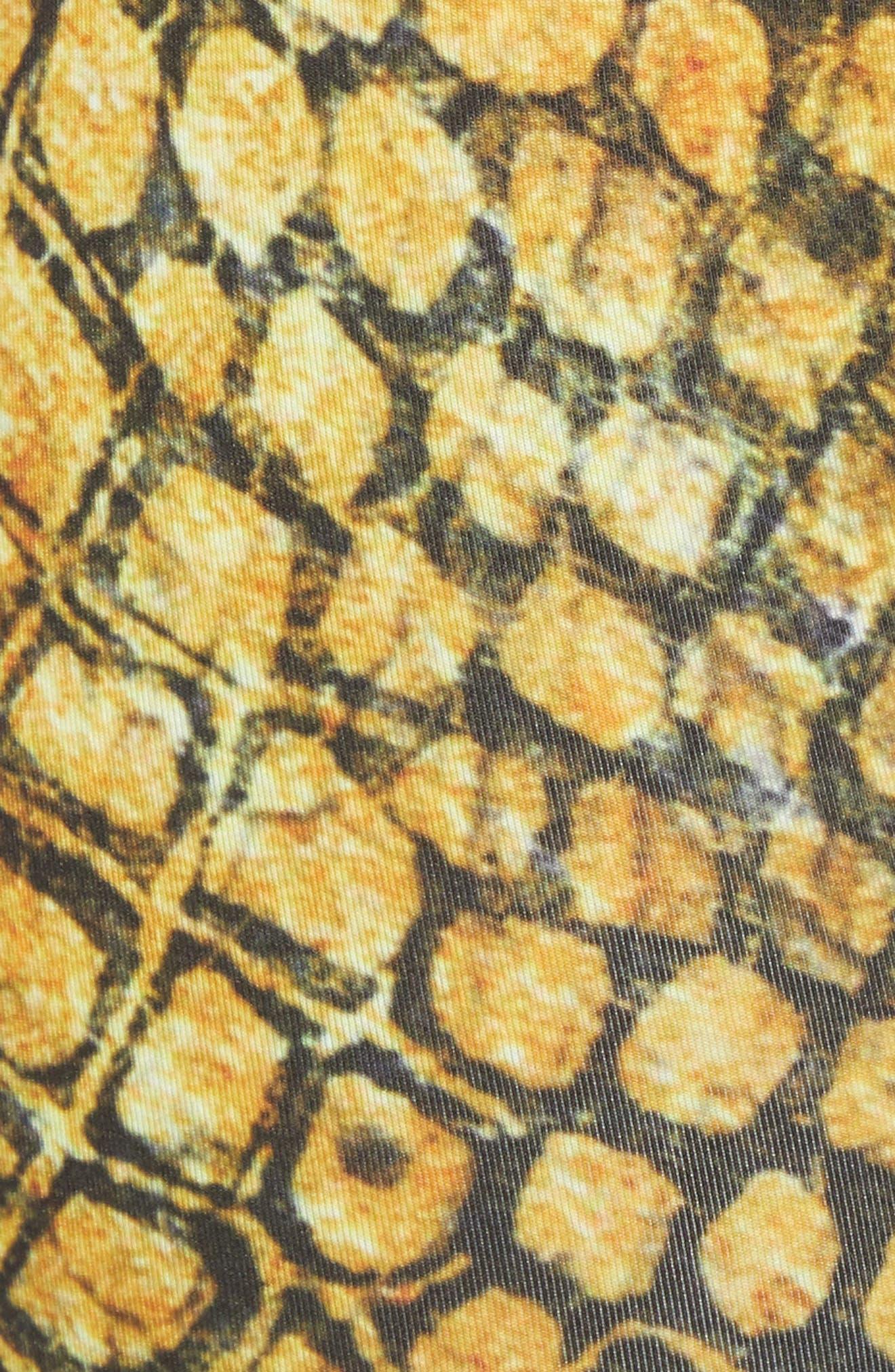 Gold Snake Boxer Briefs,                             Alternate thumbnail 5, color,                             GOLD