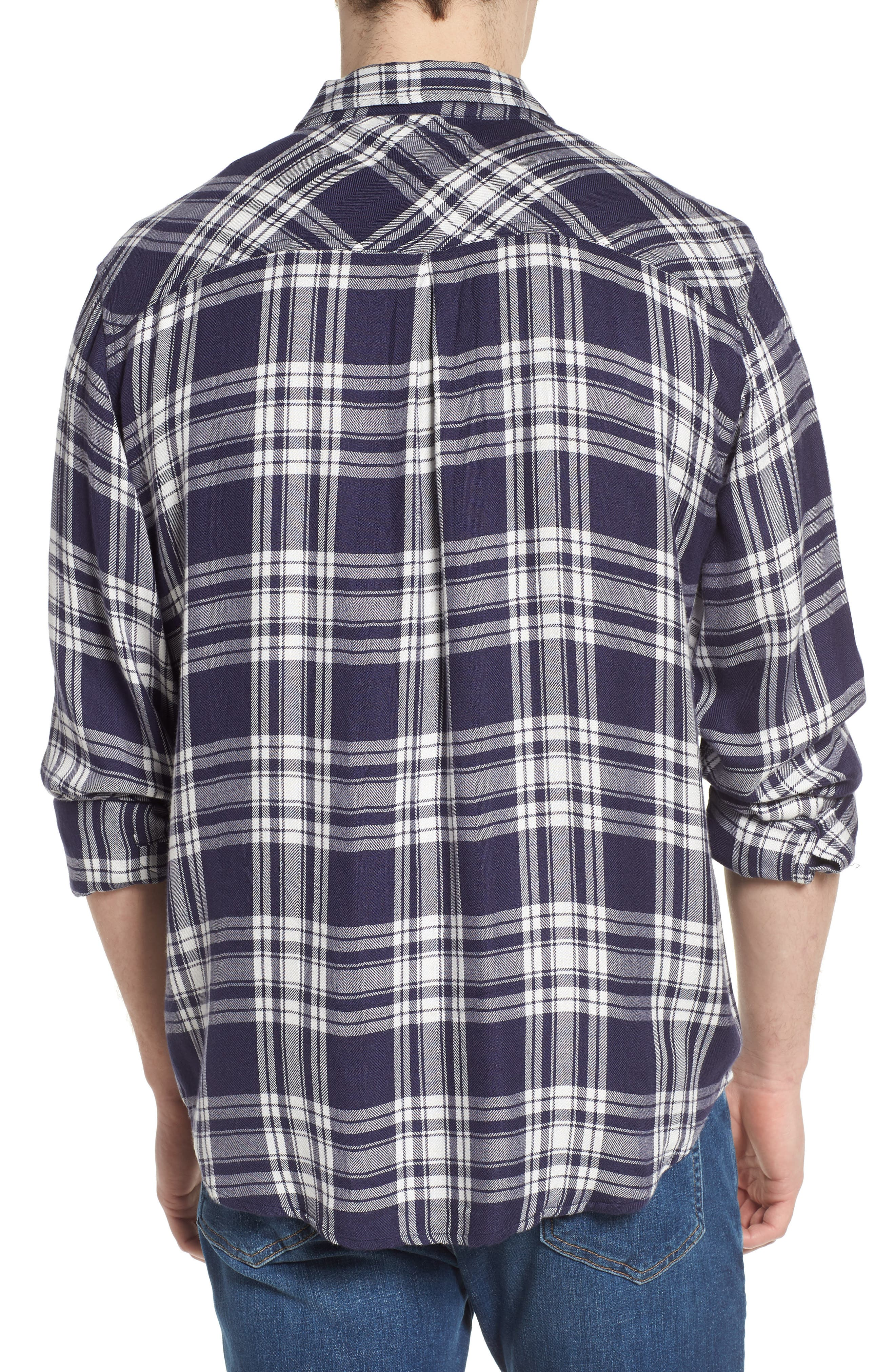 Lennox Slim Fit Plaid Sport Shirt,                             Alternate thumbnail 2, color,                             100
