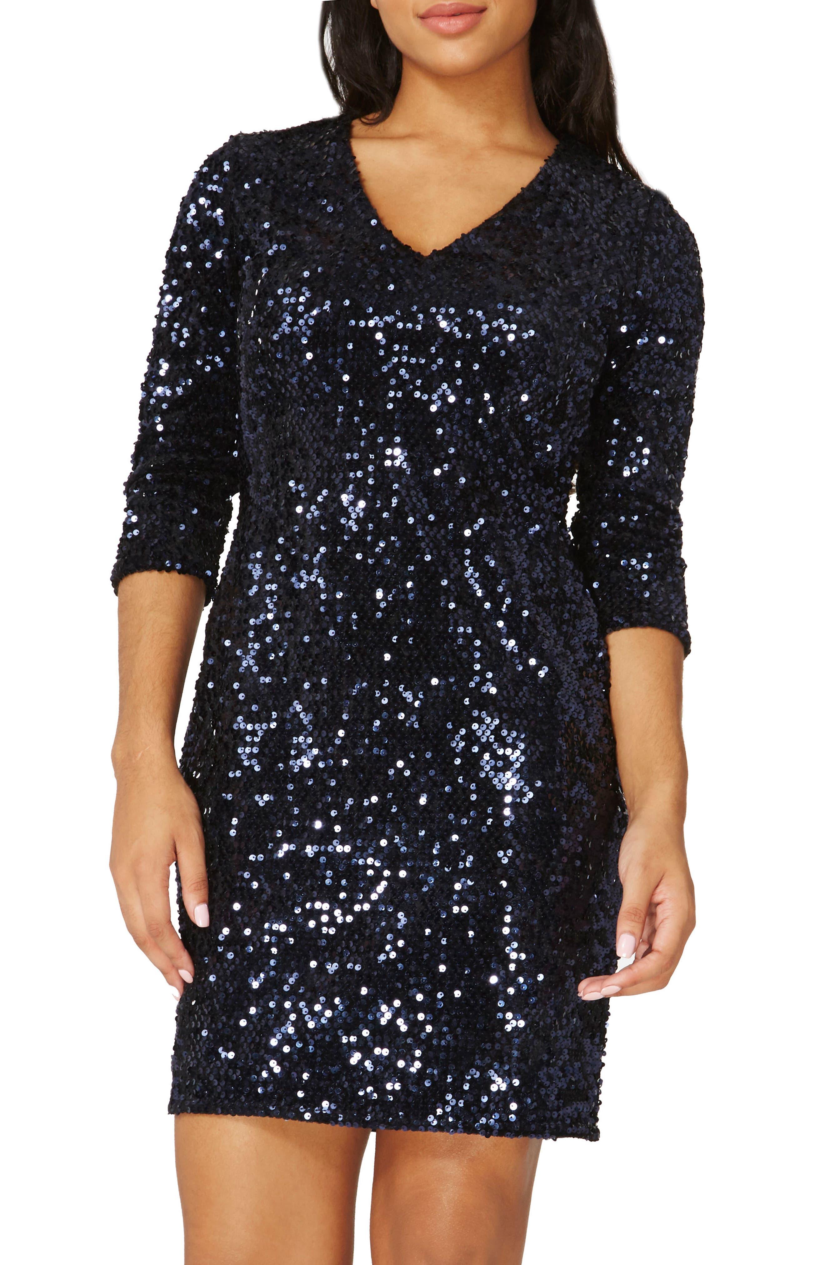 Sequin Body-Con Dress,                             Main thumbnail 1, color,                             400