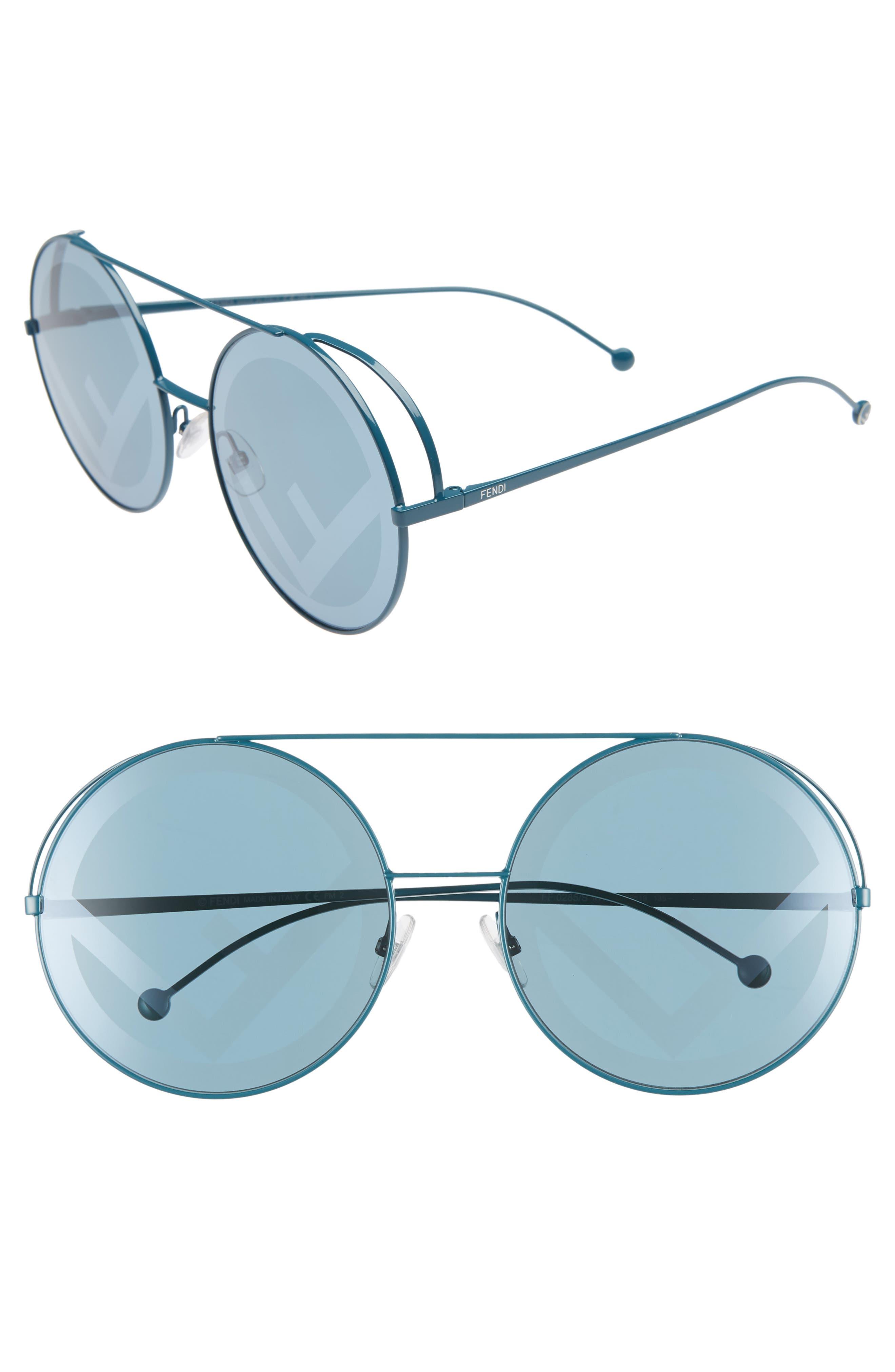 Run Away 63Mm Round Sunglasses - Petrol