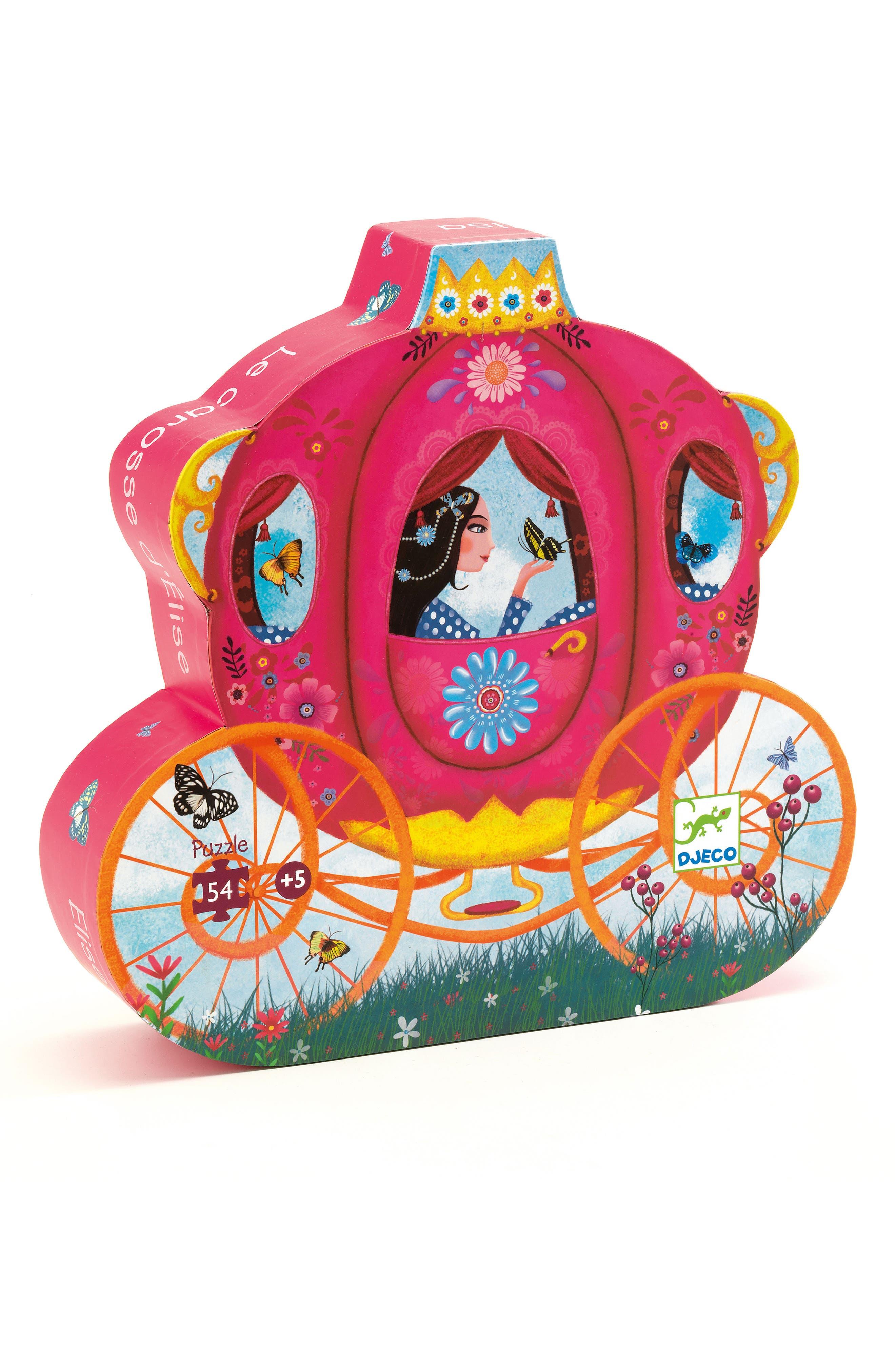 Girls Djeco Silhouette Puzzles Elises Carriage 54Piece Puzzle