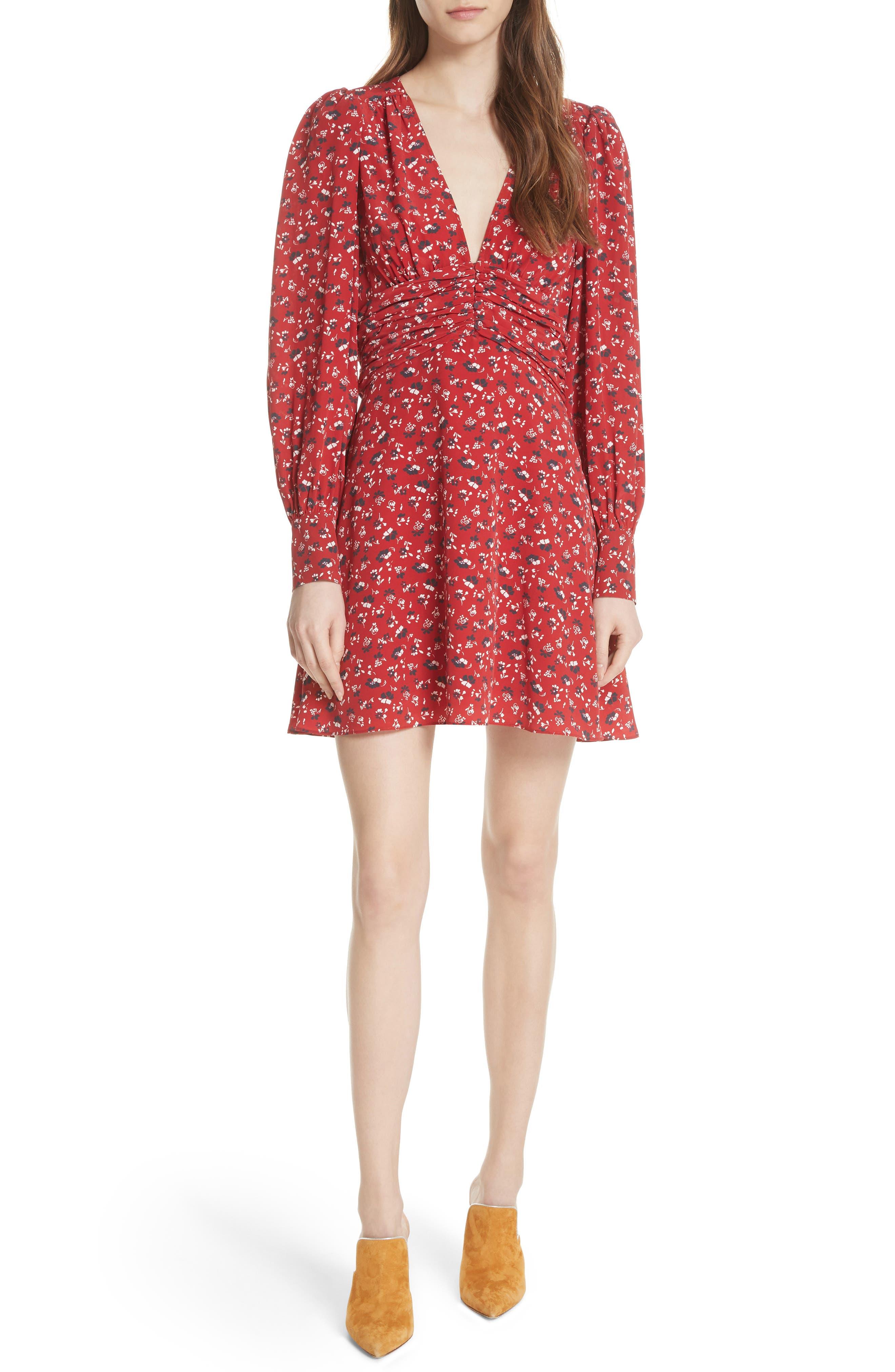Marion Silk Dress,                         Main,                         color, 640