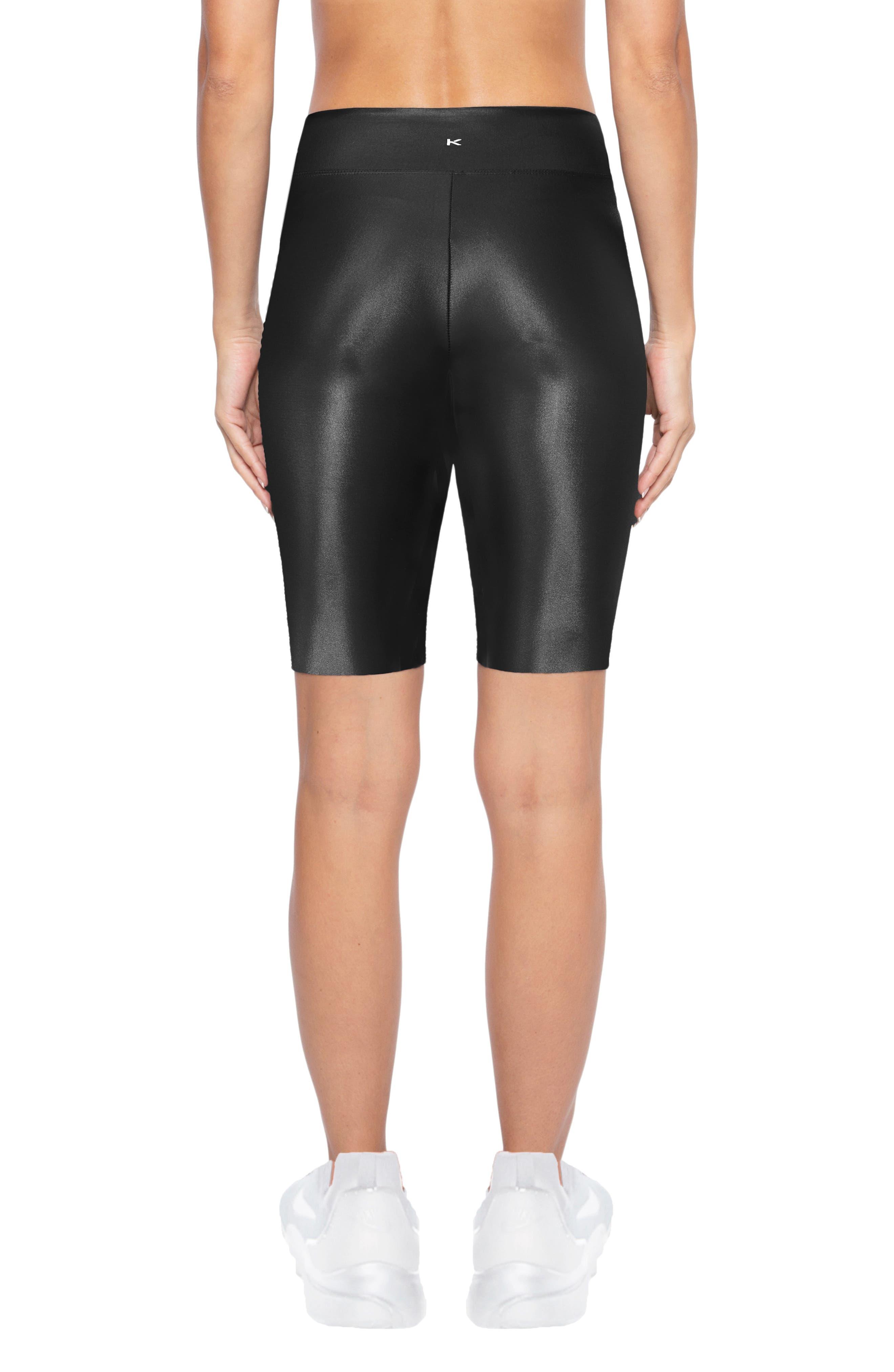 Densonic High Waist Bike Shorts,                             Alternate thumbnail 2, color,                             BLACK