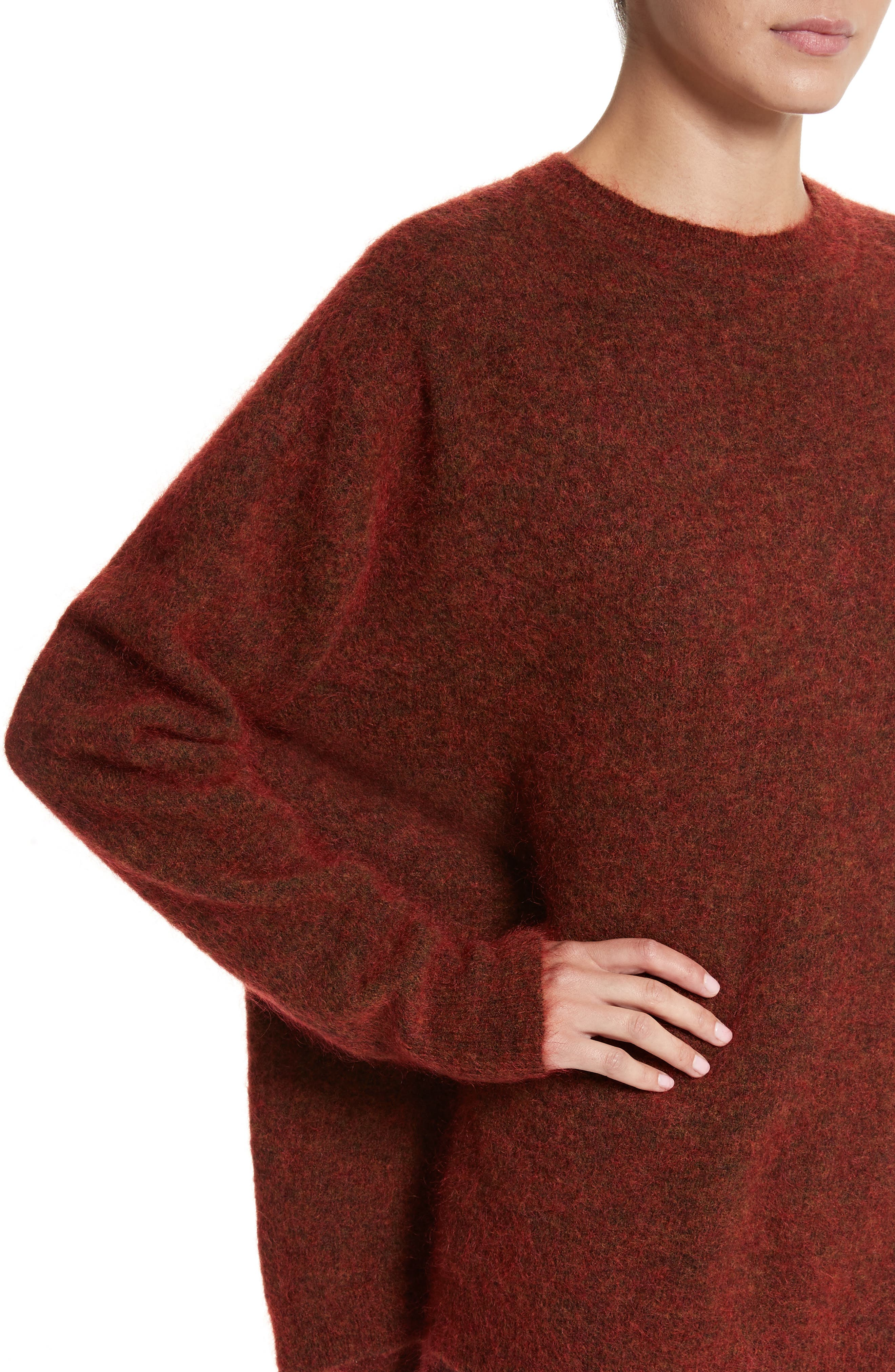 Tambourine Open Back Sweater,                             Alternate thumbnail 4, color,