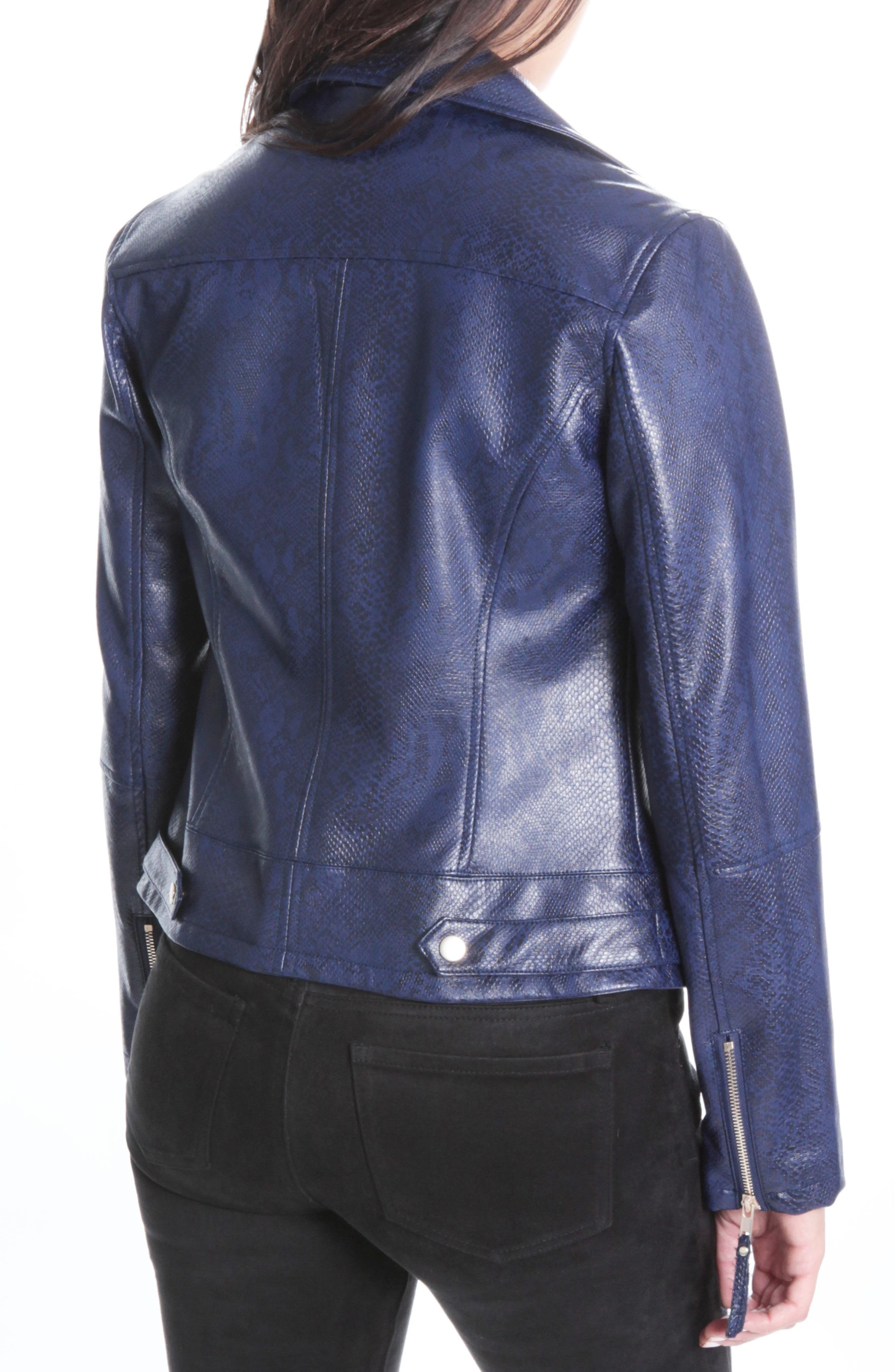 Brooke Faux Leather Moto Jacket,                             Alternate thumbnail 2, color,                             416