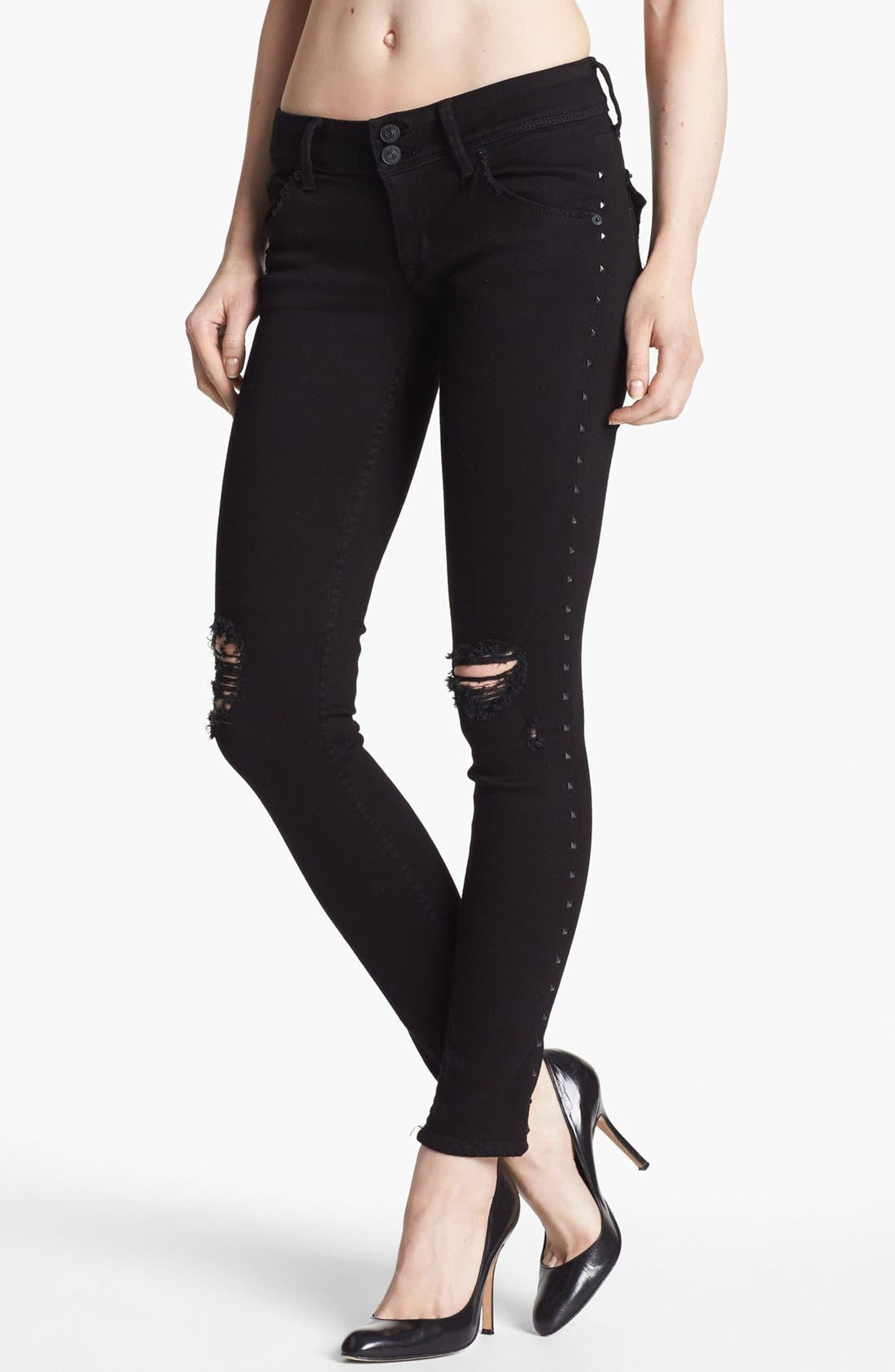 HUDSON JEANS 'Collin' Skinny Jeans, Main, color, 001