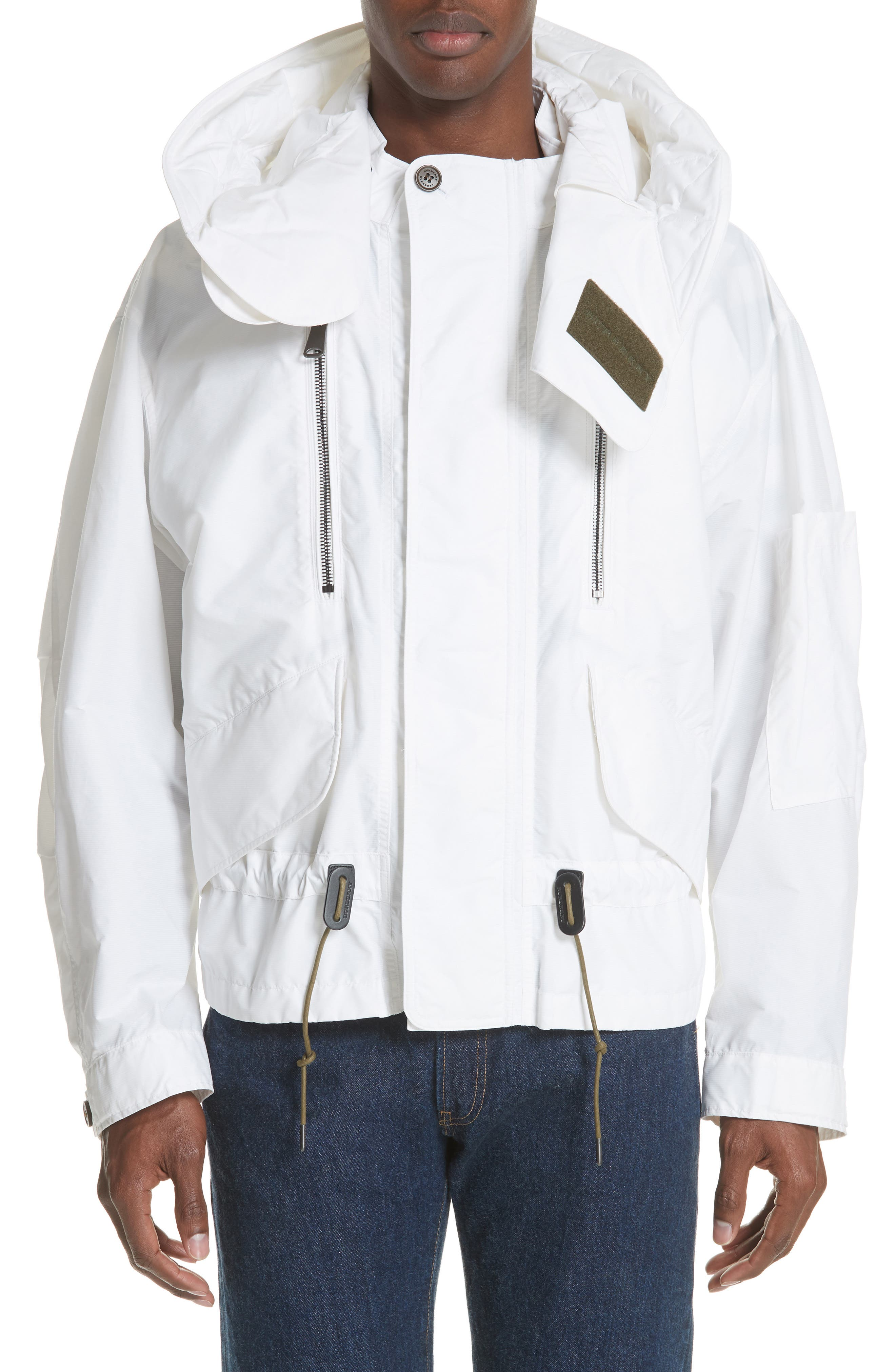 Shenwood Tech Jacket with Detachable Hood,                             Main thumbnail 1, color,                             WHITE