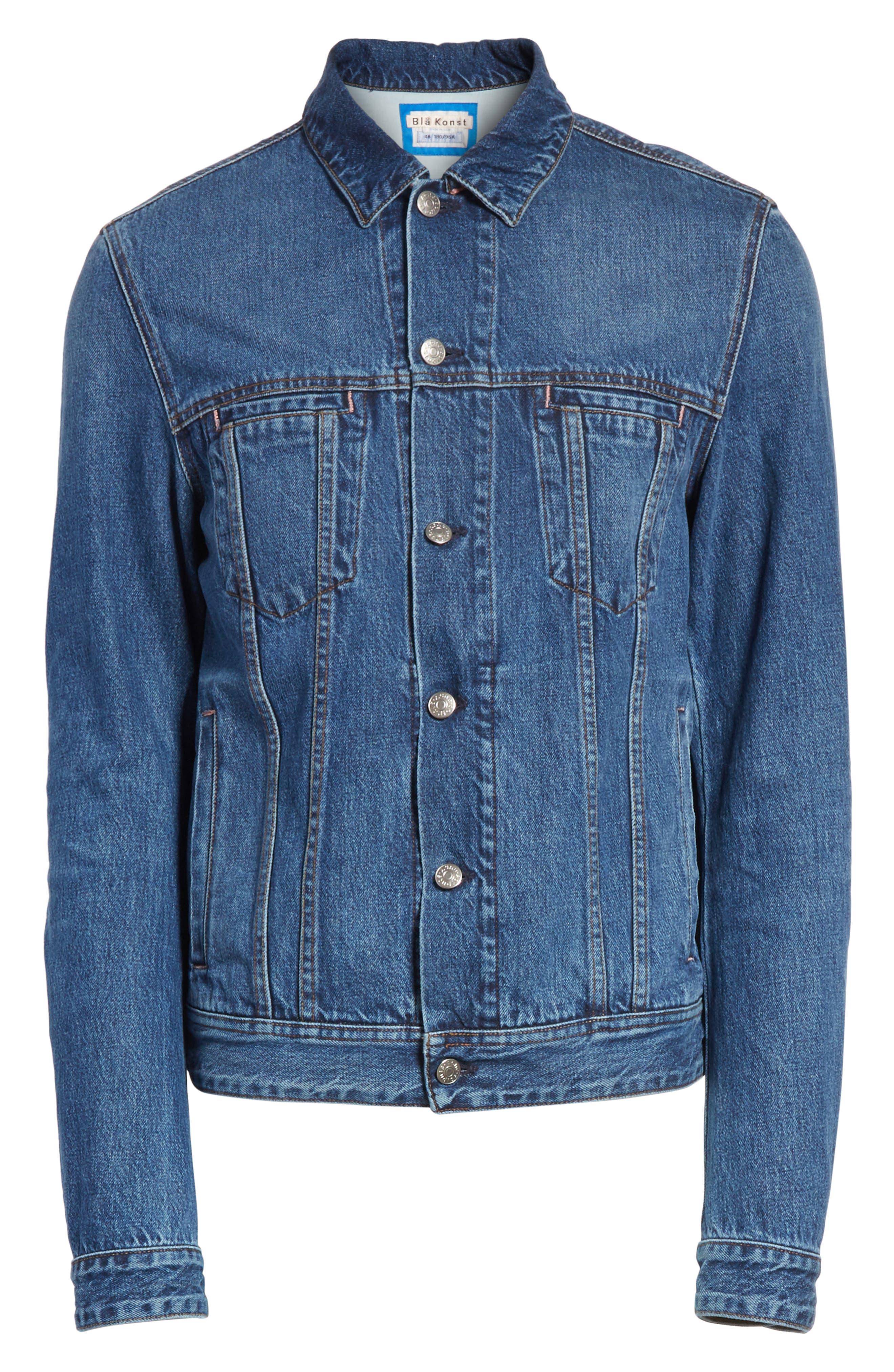 Denim Jacket,                             Alternate thumbnail 5, color,                             MID BLUE