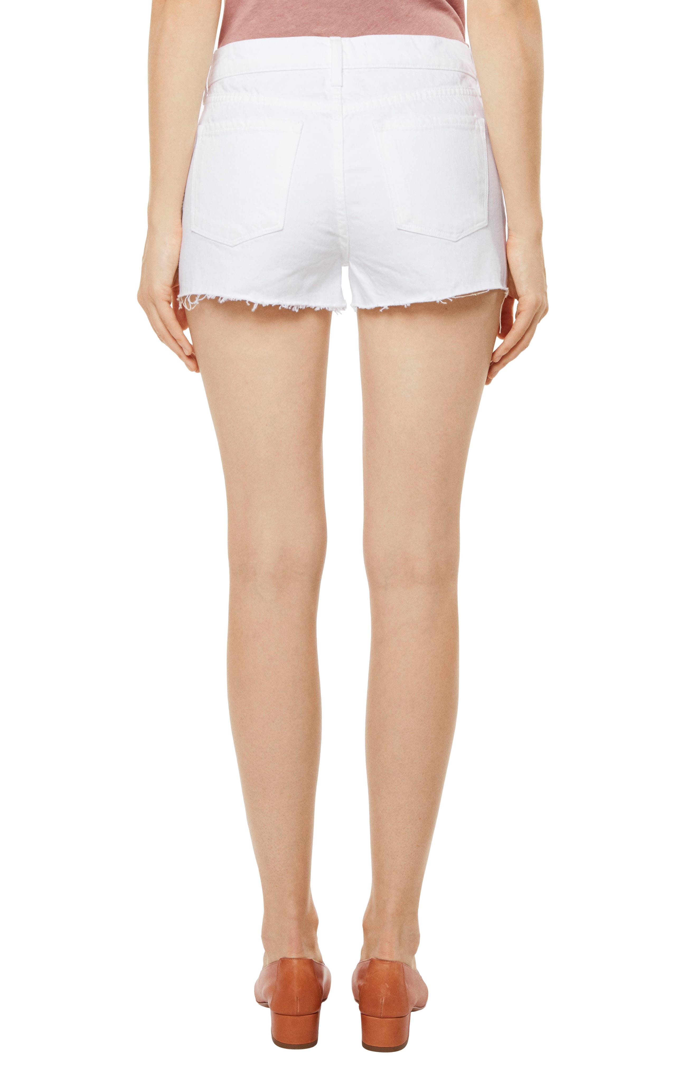 J BRAND,                             Raw Hem Denim Shorts,                             Alternate thumbnail 2, color,                             109