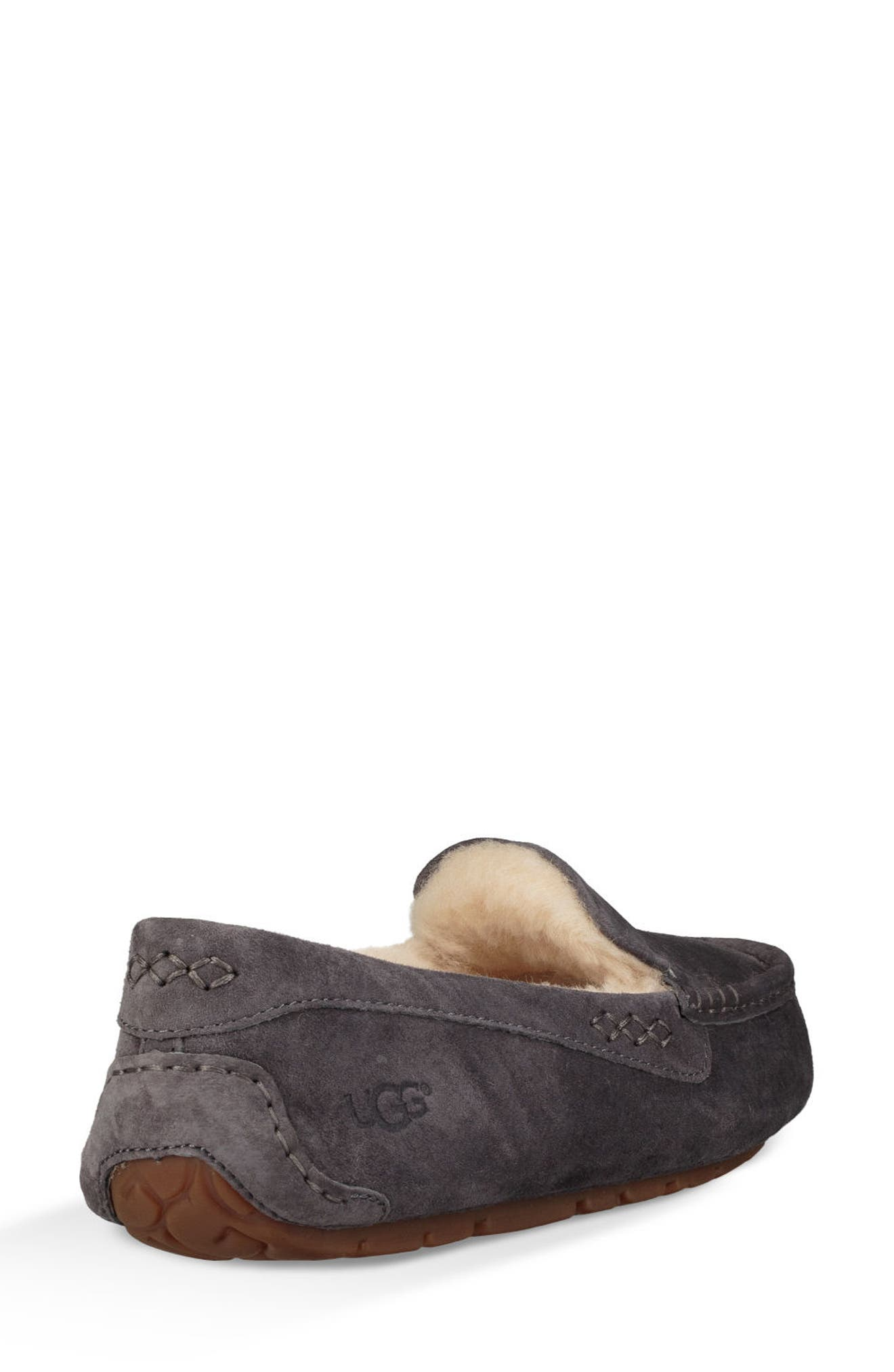 Ansley Water Resistant Slipper,                             Alternate thumbnail 2, color,                             NIGHTFALL LEATHER