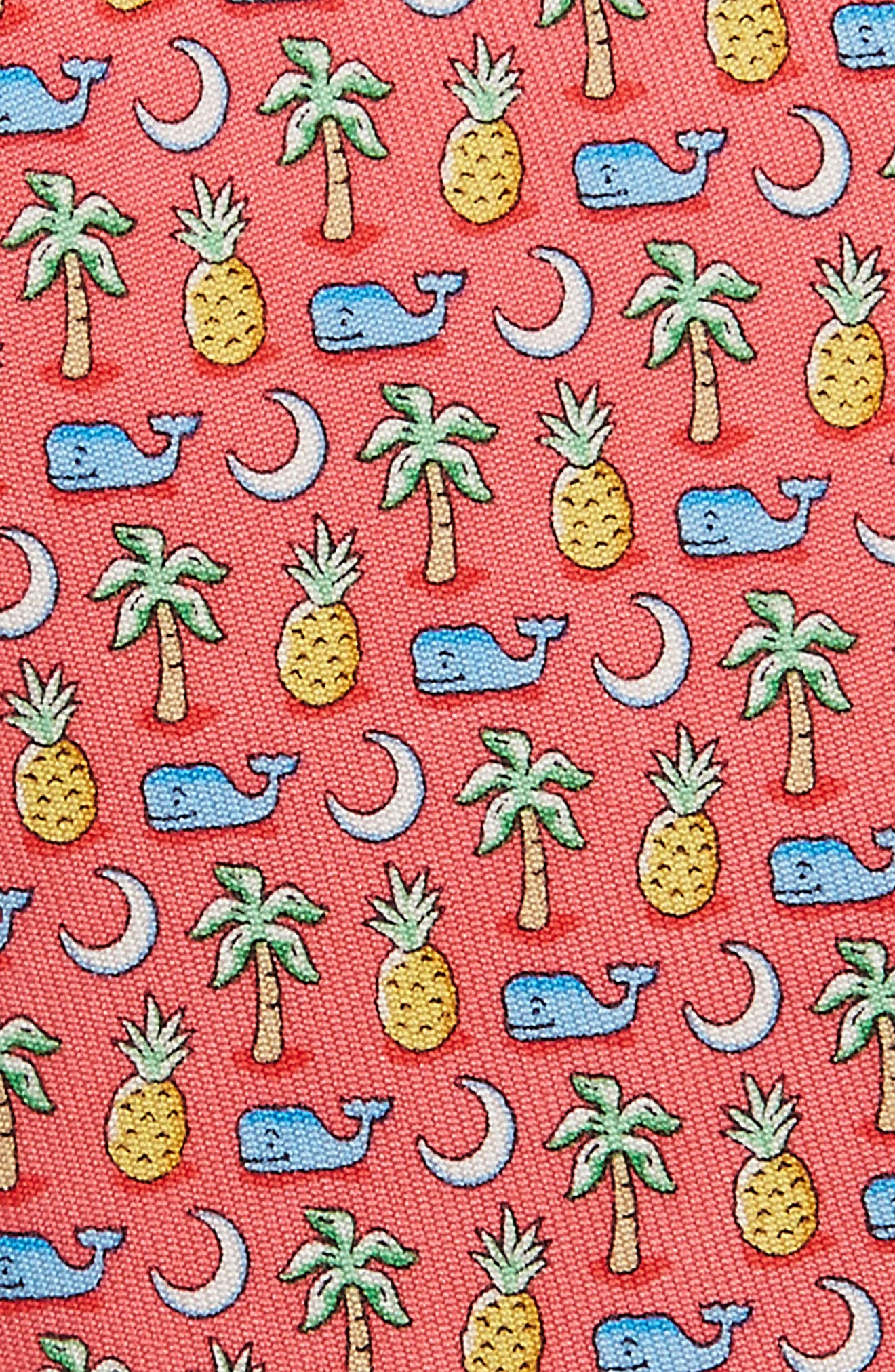 Whale Palm Crescent Silk Tie,                             Alternate thumbnail 2, color,                             680