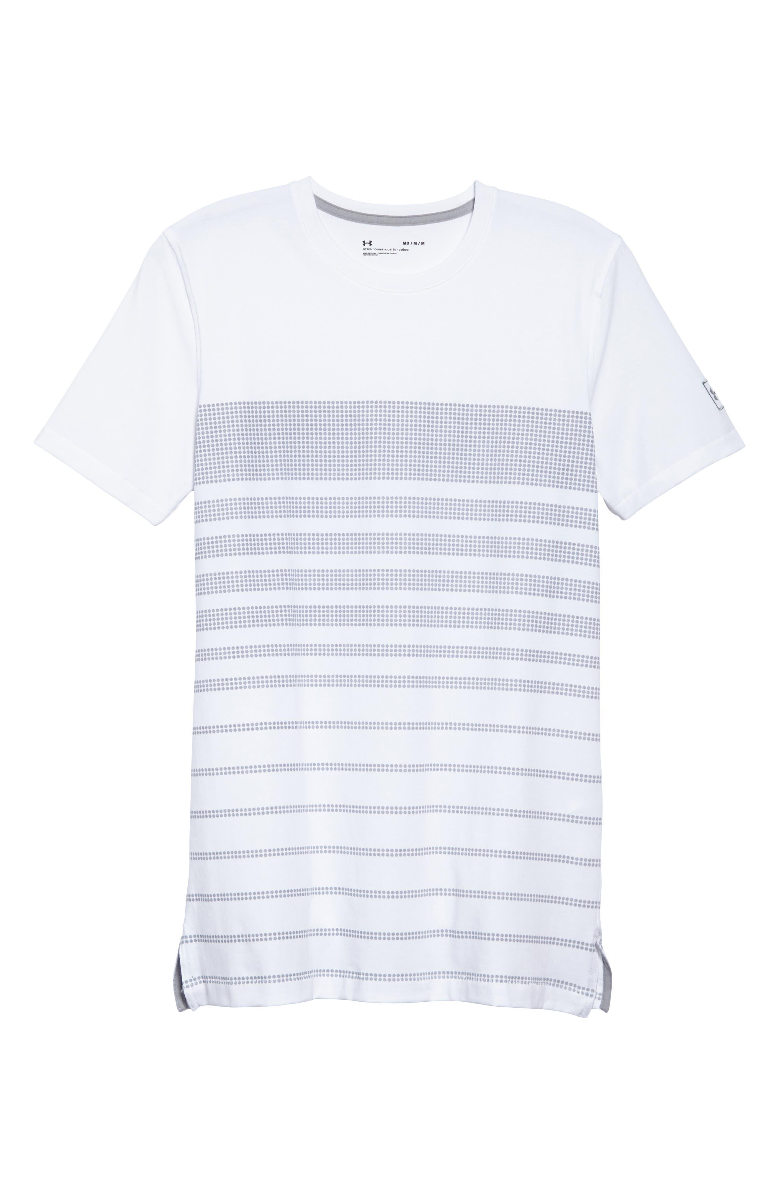 Sportstyle Crewneck T-Shirt,                             Alternate thumbnail 6, color,                             WHITE / OVERCAST GREH