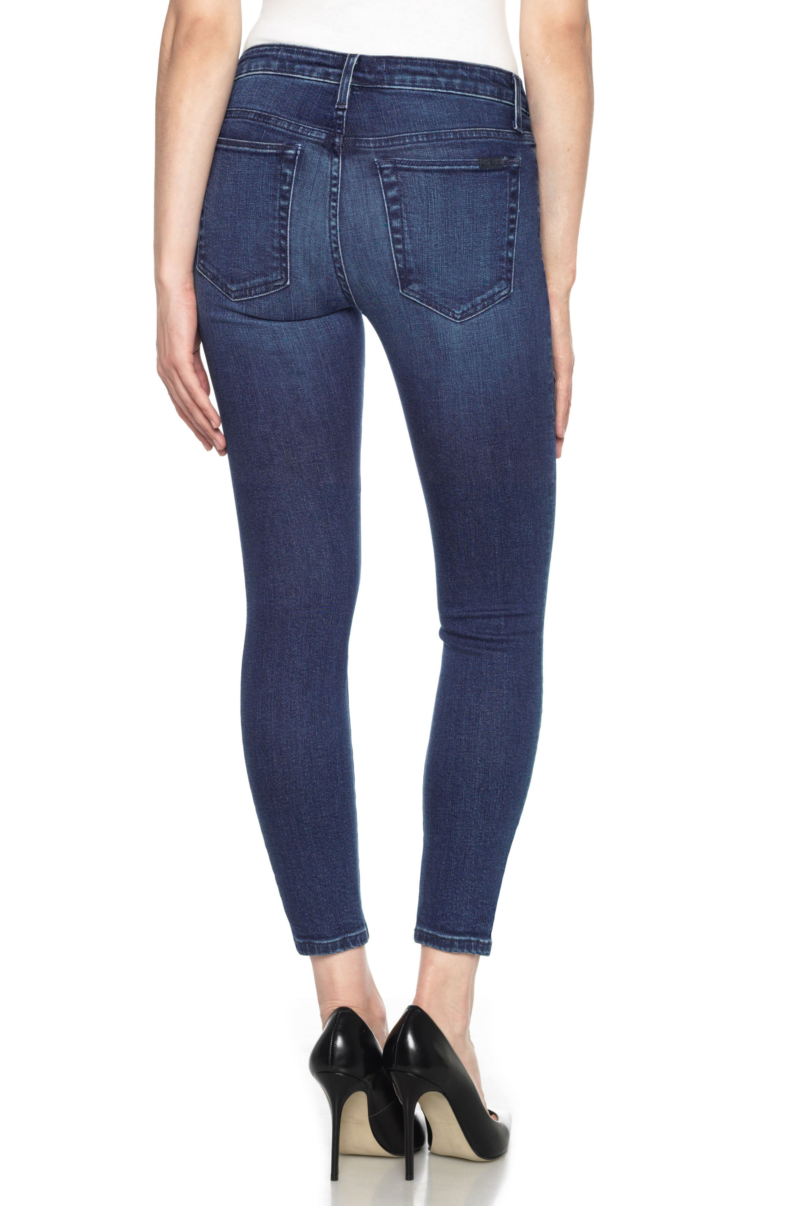 Icon High Waist Crop Skinny Jeans,                             Alternate thumbnail 2, color,                             400