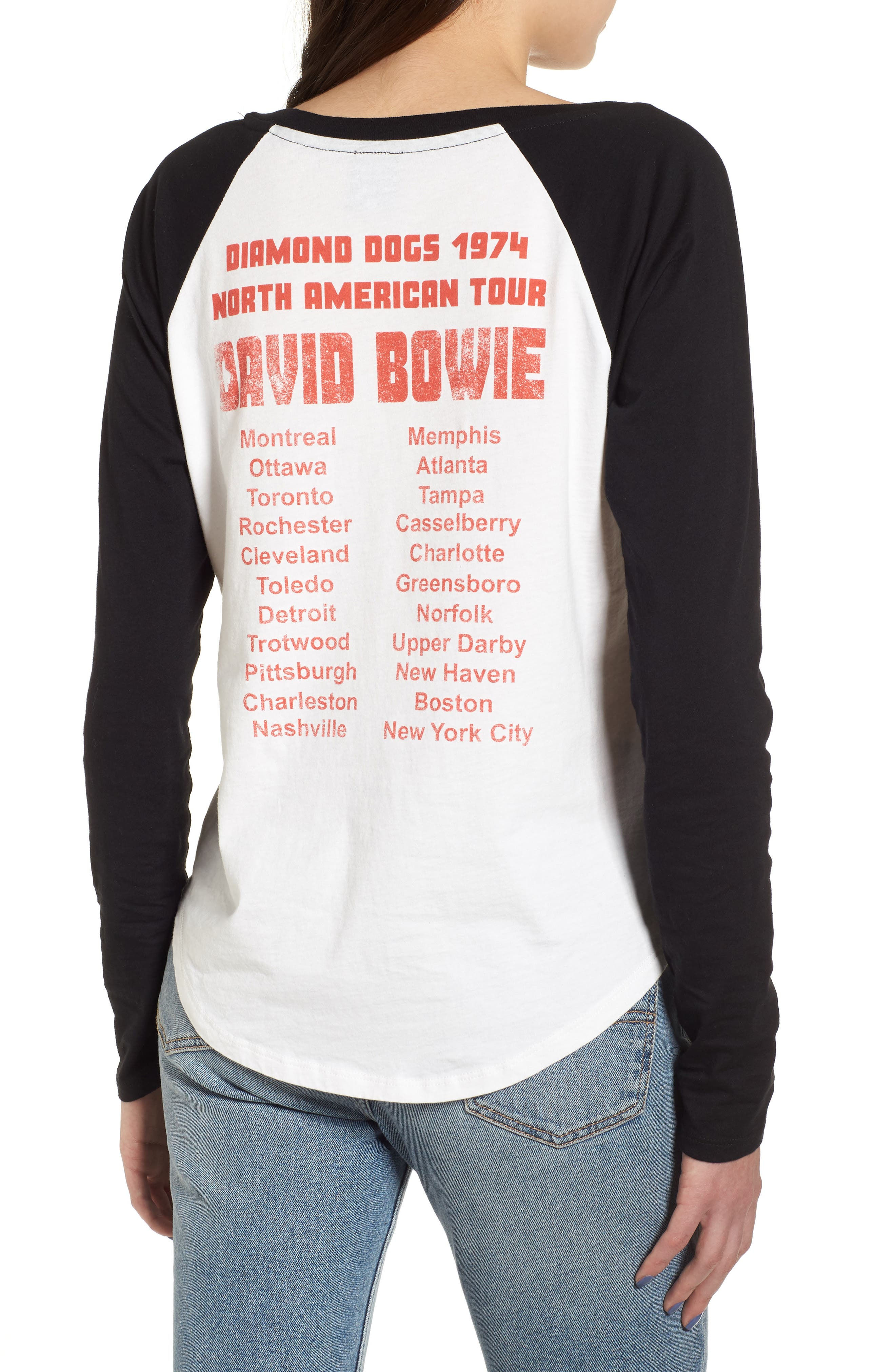 David Bowie Raglan Tee,                             Alternate thumbnail 2, color,