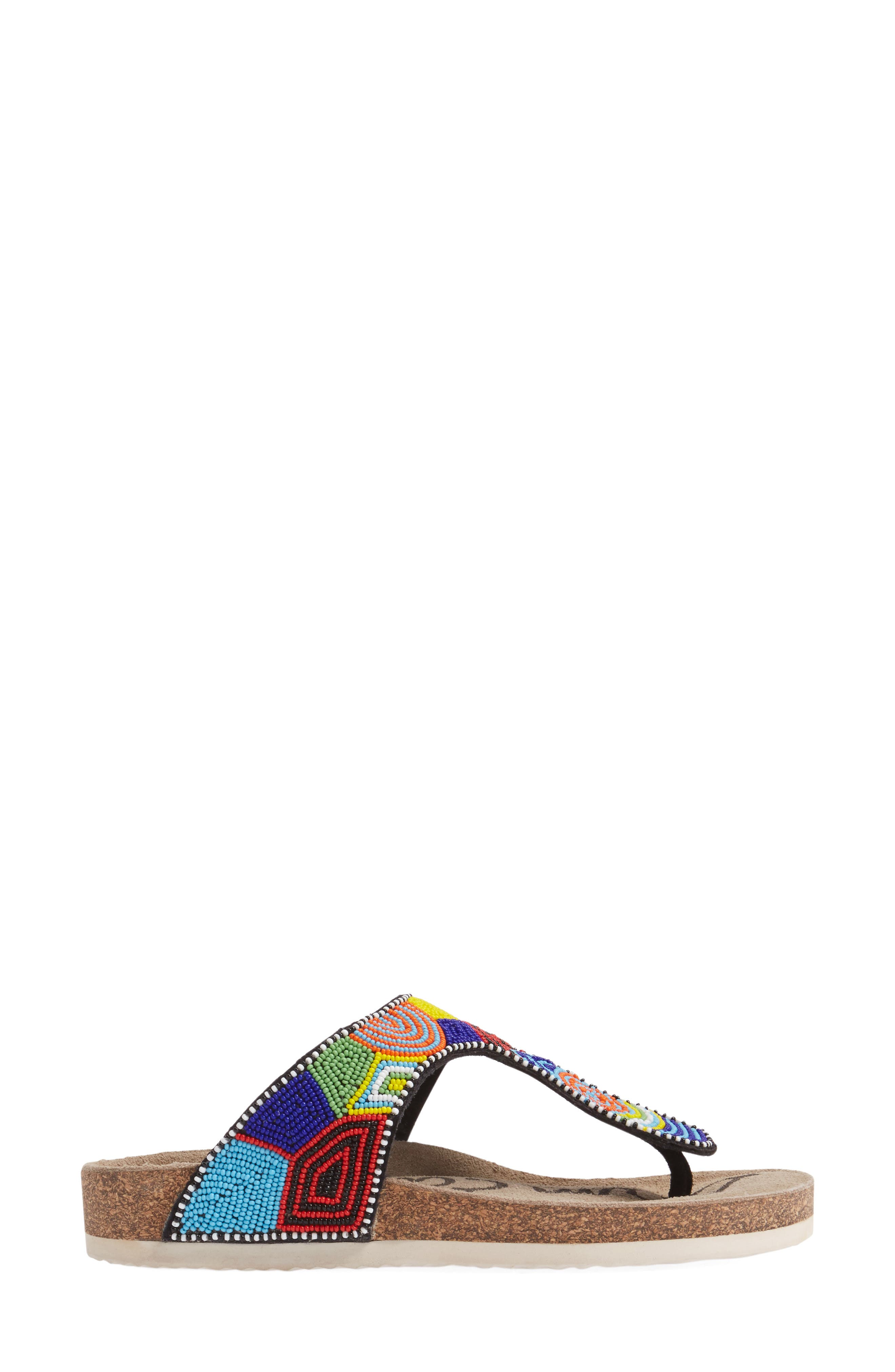 Olivie Beaded Flip Flop,                             Alternate thumbnail 30, color,