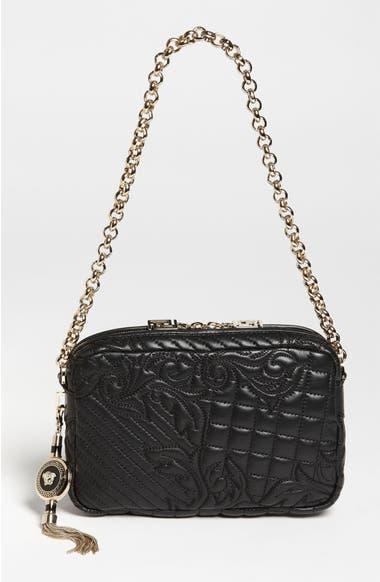 07549bbb861 Versace 'Vanitas' Embroidered Leather Shoulder Bag | Nordstrom