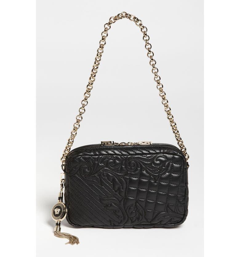 72e6ad81b1b0 Versace  Vanitas  Embroidered Leather Shoulder Bag